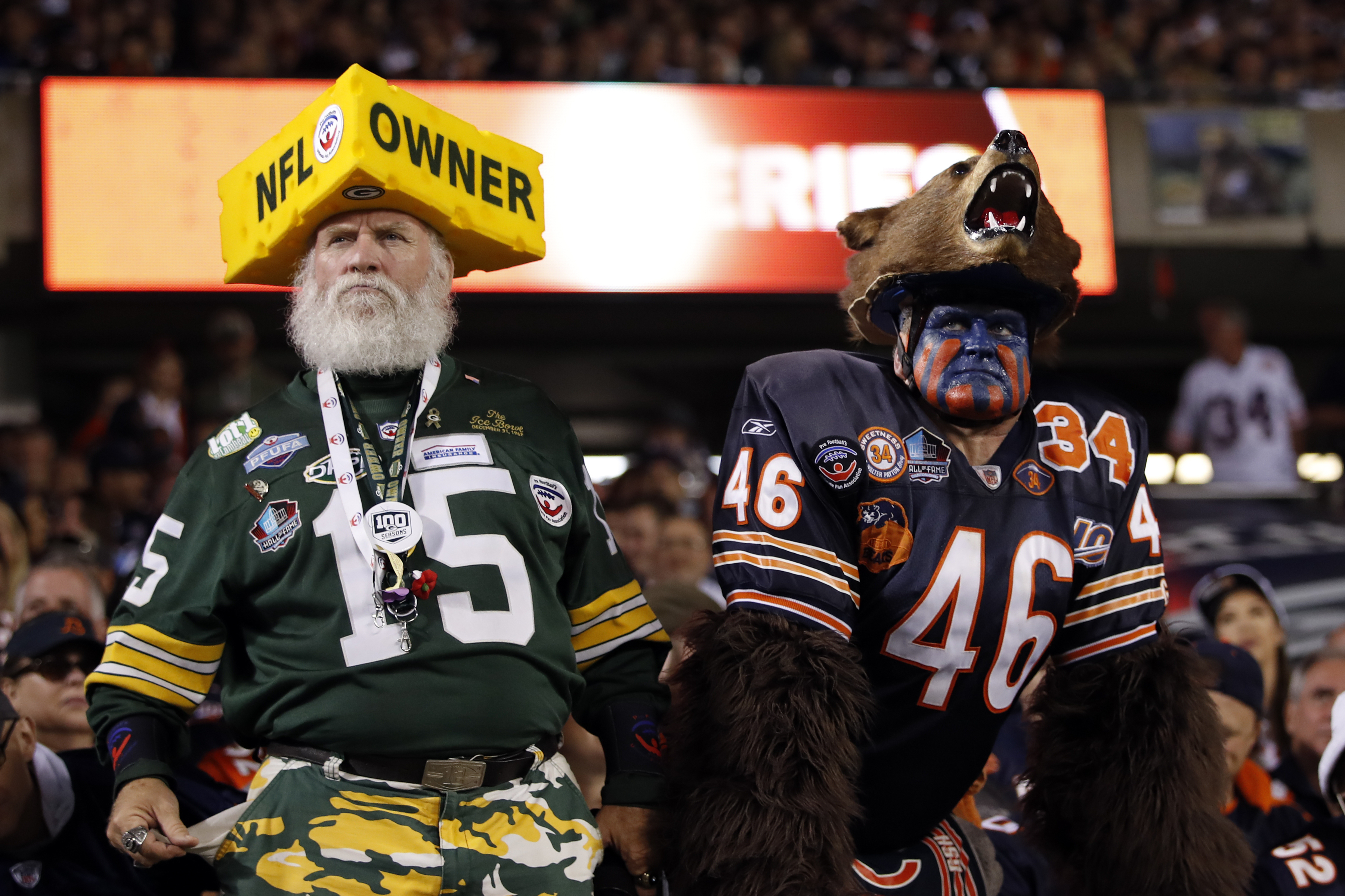 Packers and Bears fans watch the Week 1 game at Solider Field on Sept. 5, 2019.