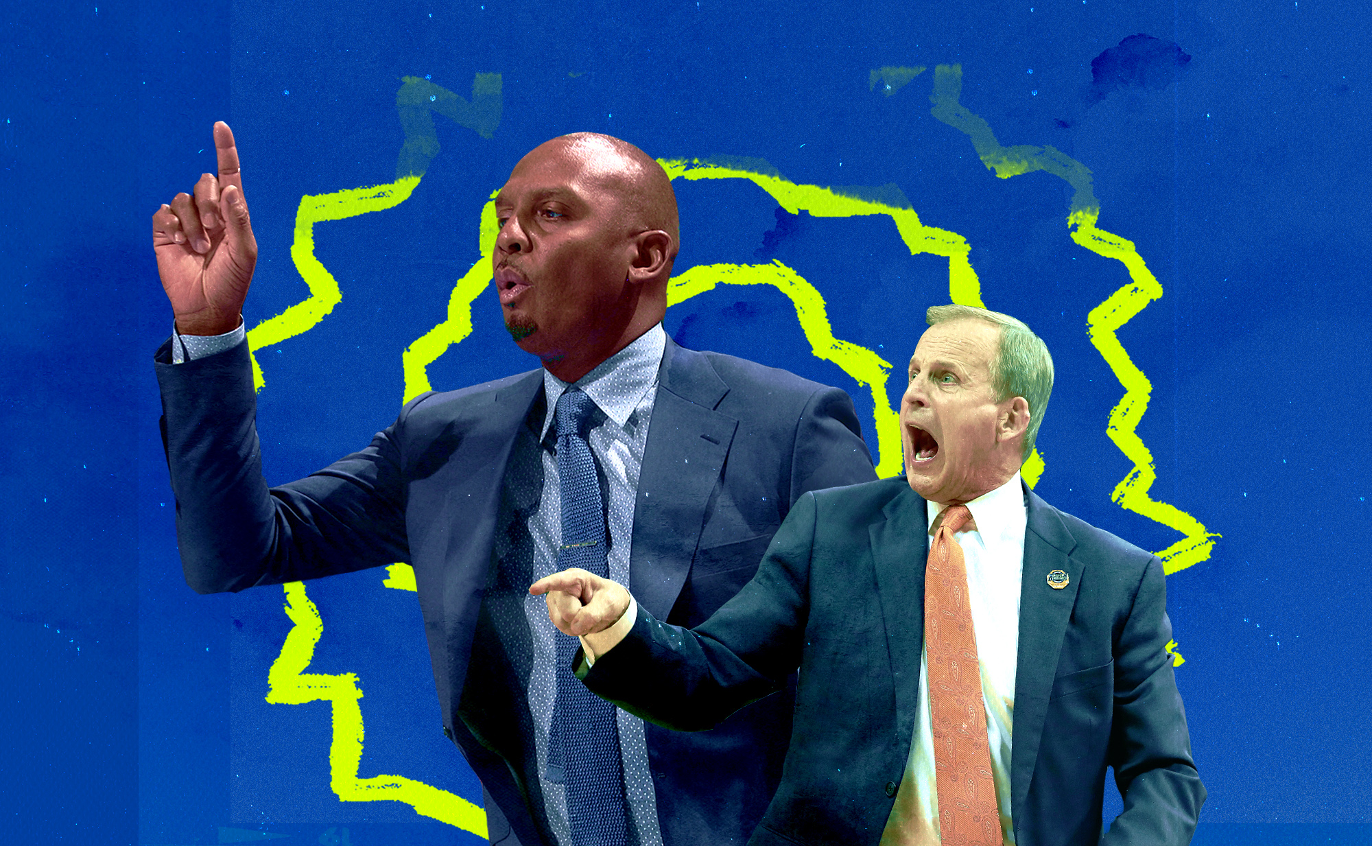 A collage of Penny Hardaway and Rick Barnes.