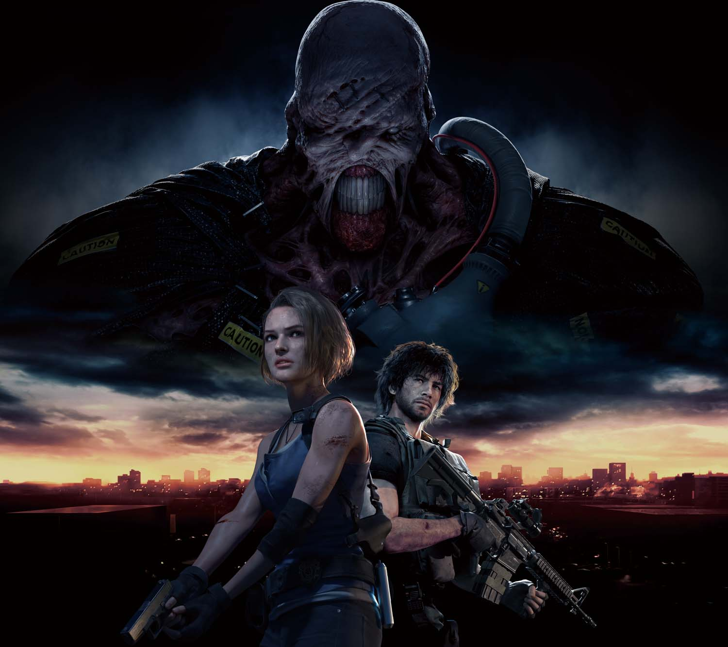 A poster from the Resident Evil 3 remake