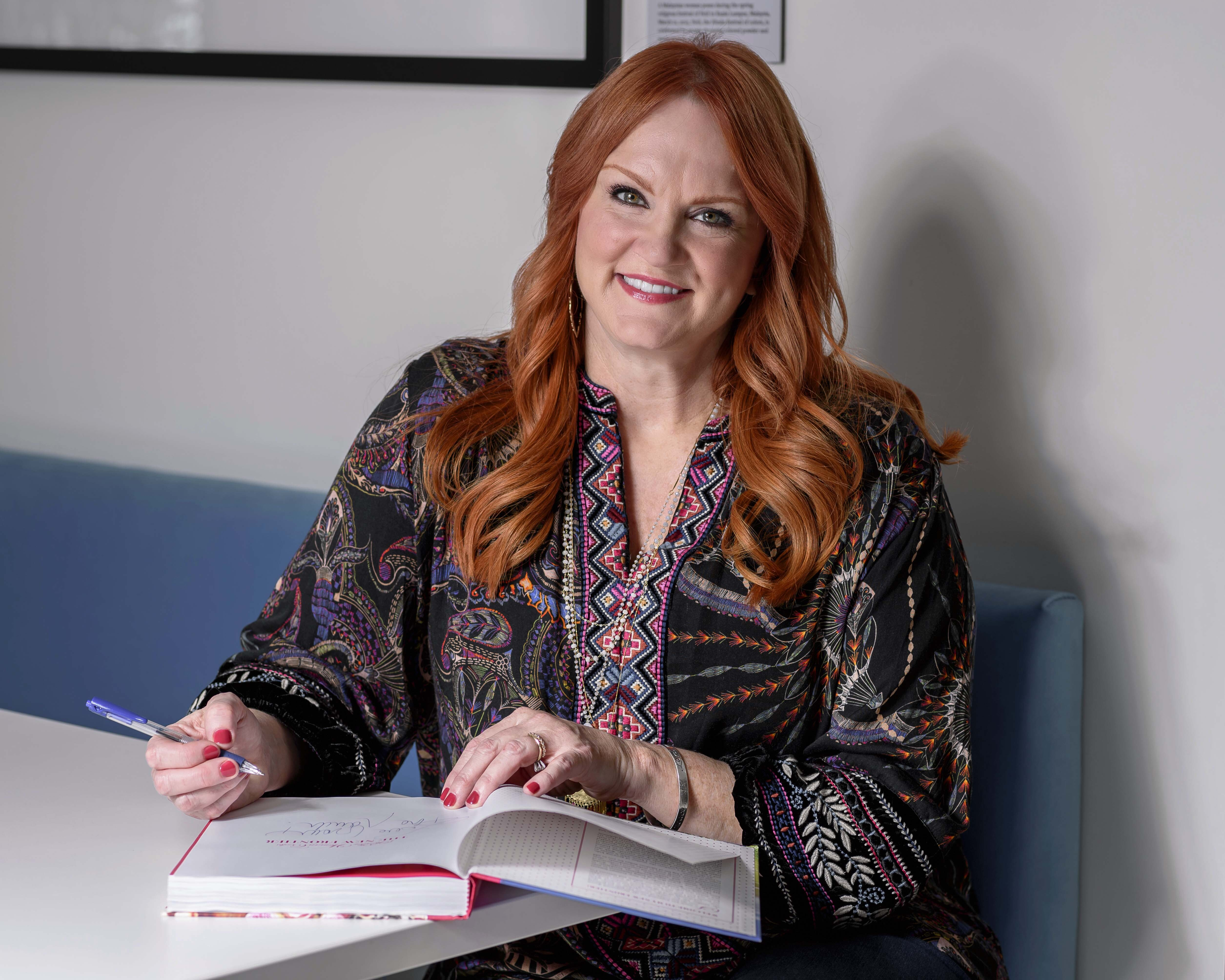"""FILE - This Oct. 21, 2019 file photo shows TV personality Ree Drummond posing for a portrait to promote her new cookbook """"The Pioneer Woman Cooks: The New Frontier: 112 Fantastic Favorites for Everyday Eating."""" (Photo by Christopher Smith/Invision/AP) ORG XMIT: NYET567"""