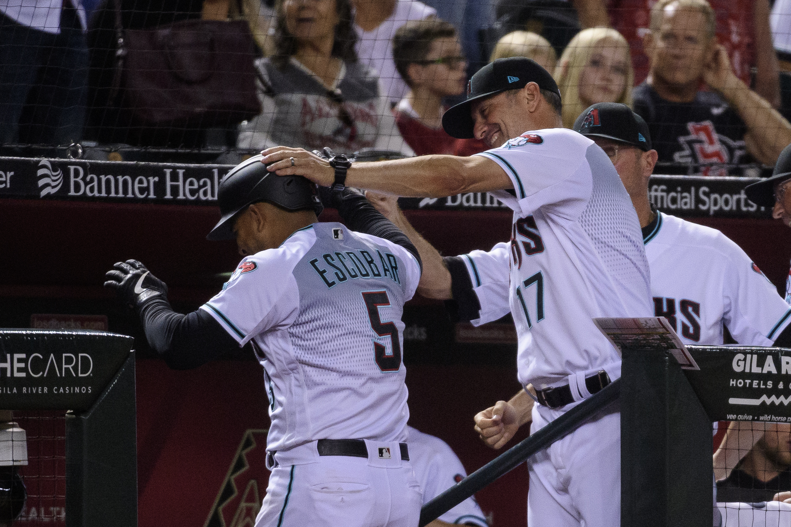 Torey Lovullo is proud of Escobar who hit a homer.