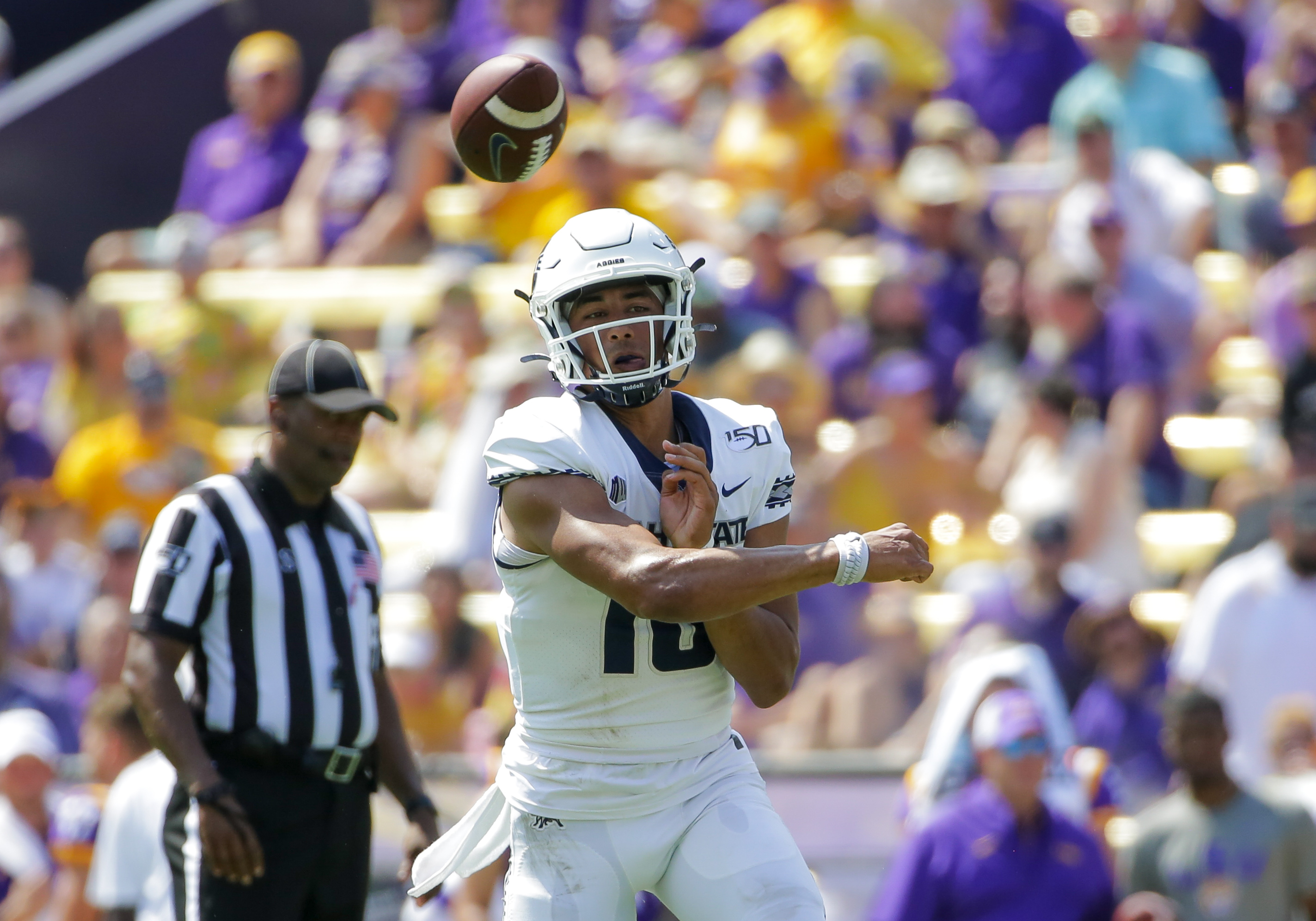 NCAA Football: Utah State at Louisiana State