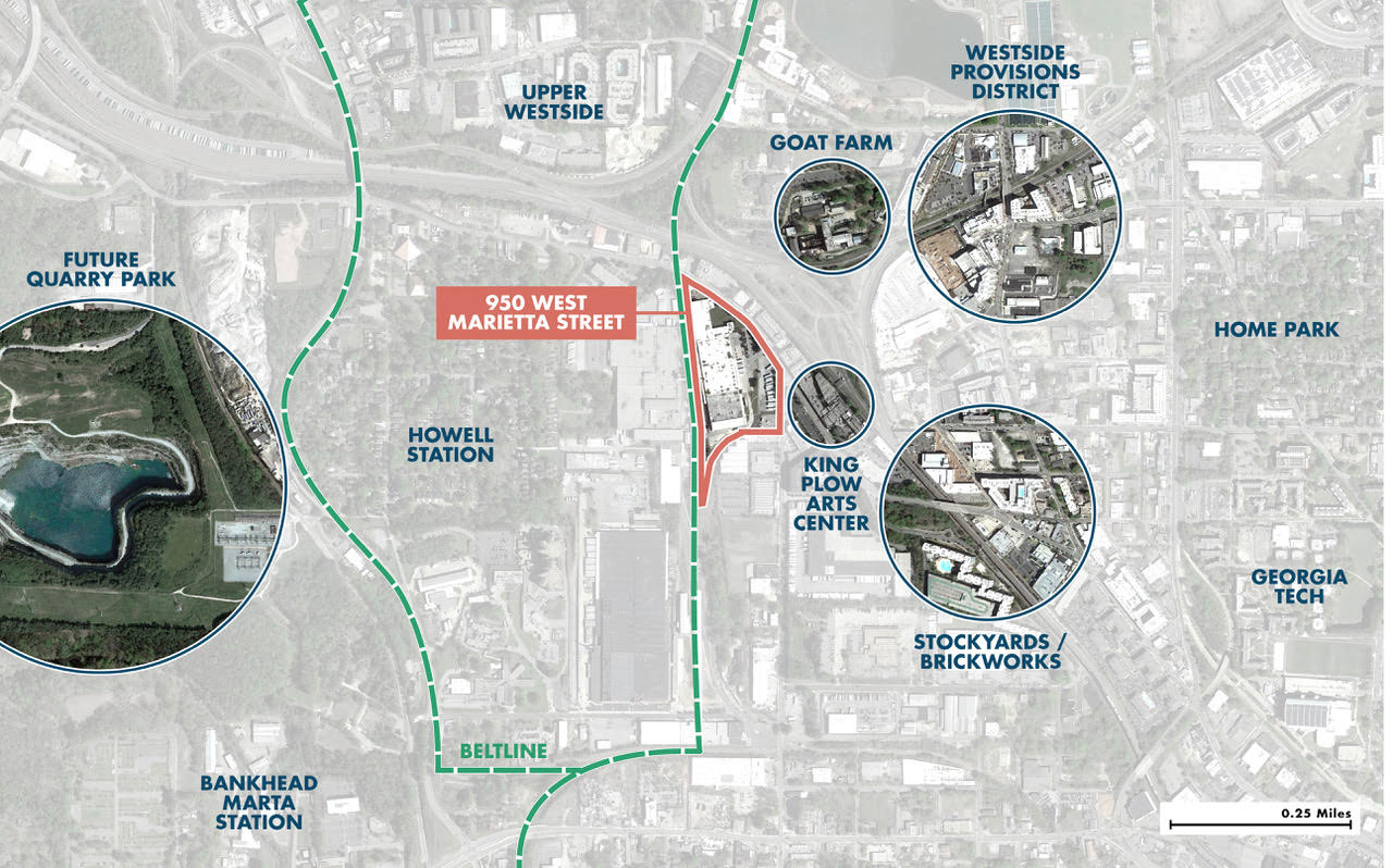 A map shows where the planned development is located.