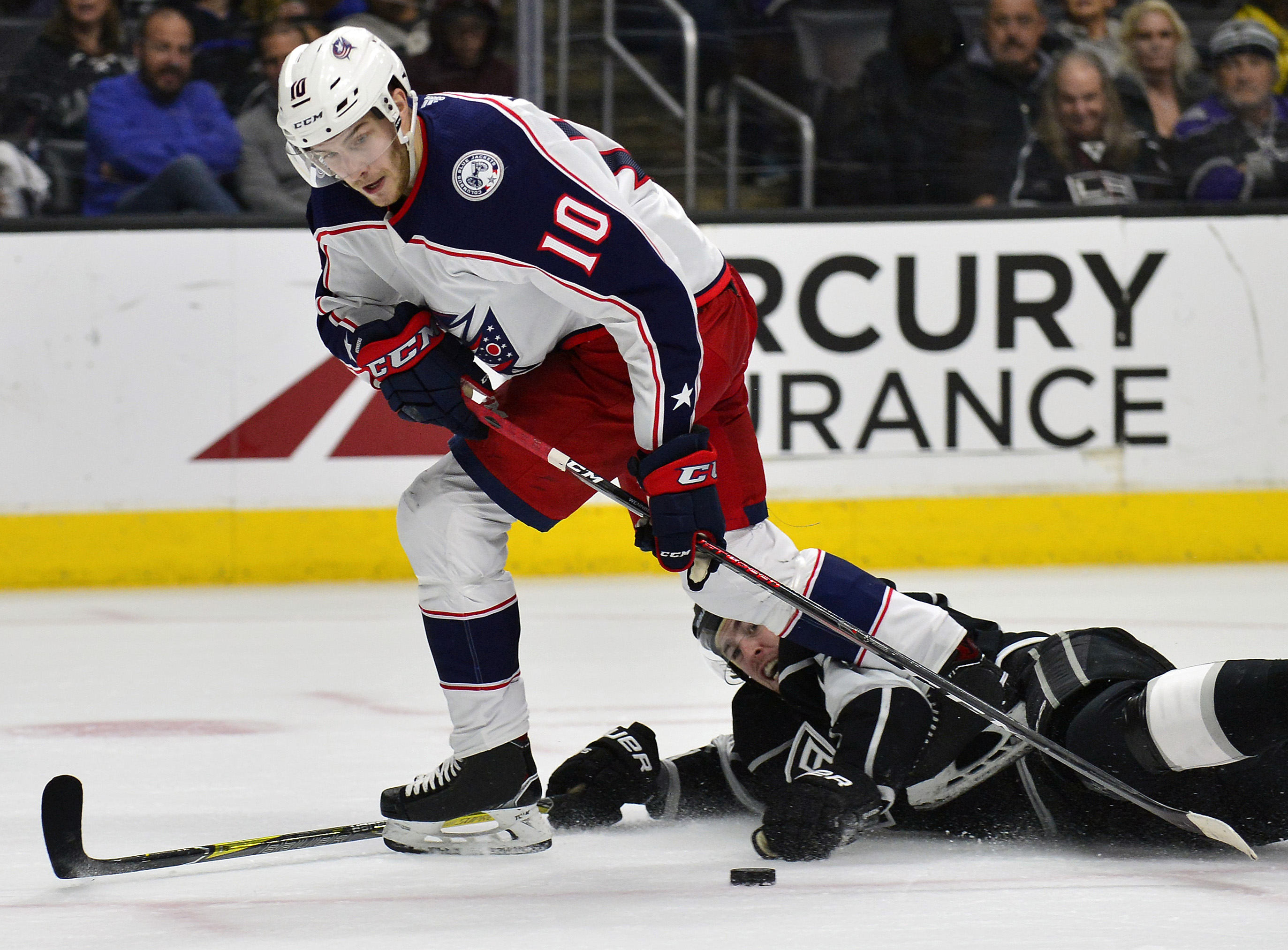 NHL: Columbus Blue Jackets at Los Angeles Kings
