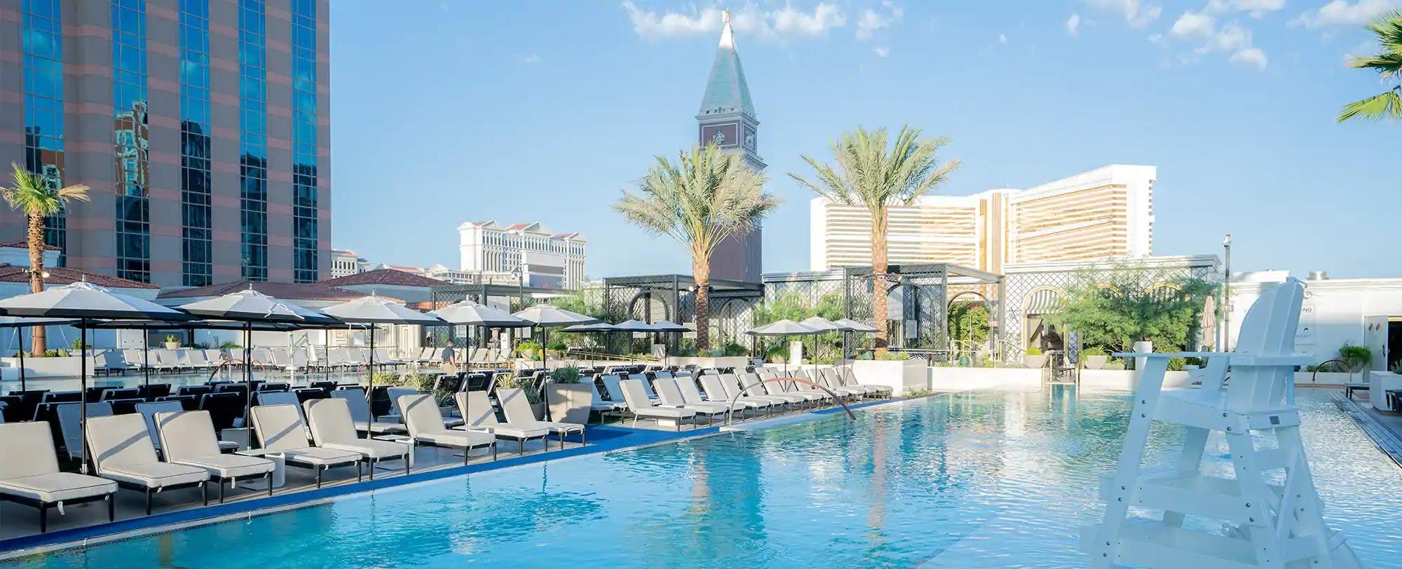 A pool scene in Las Vegas