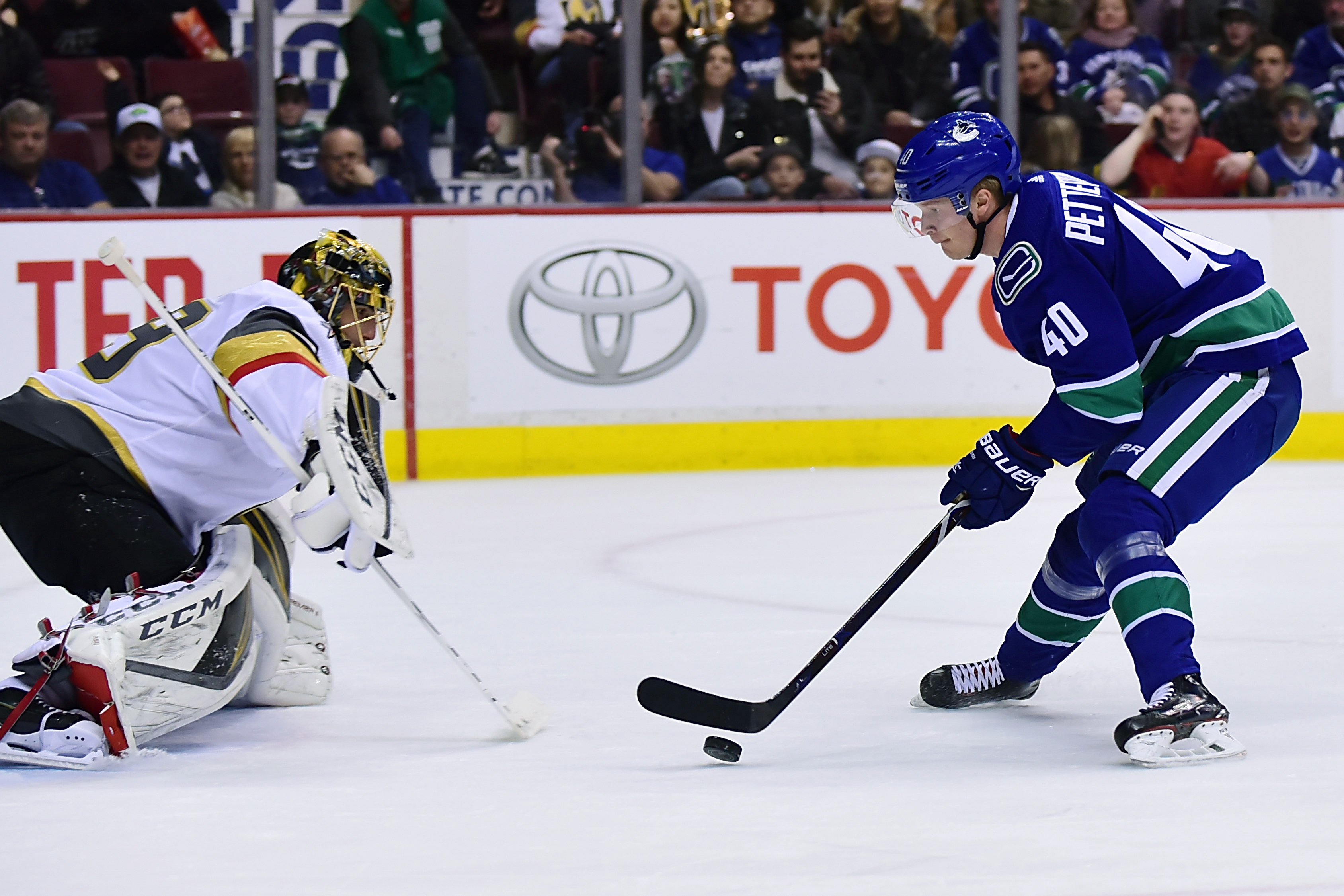 NHL: Vegas Golden Knights at Vancouver Canucks
