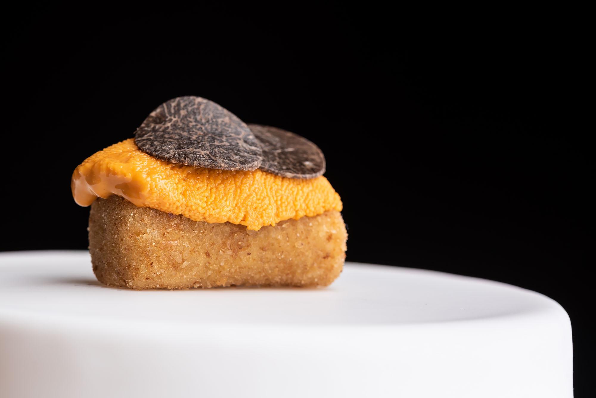 Uni and truffles on toast.
