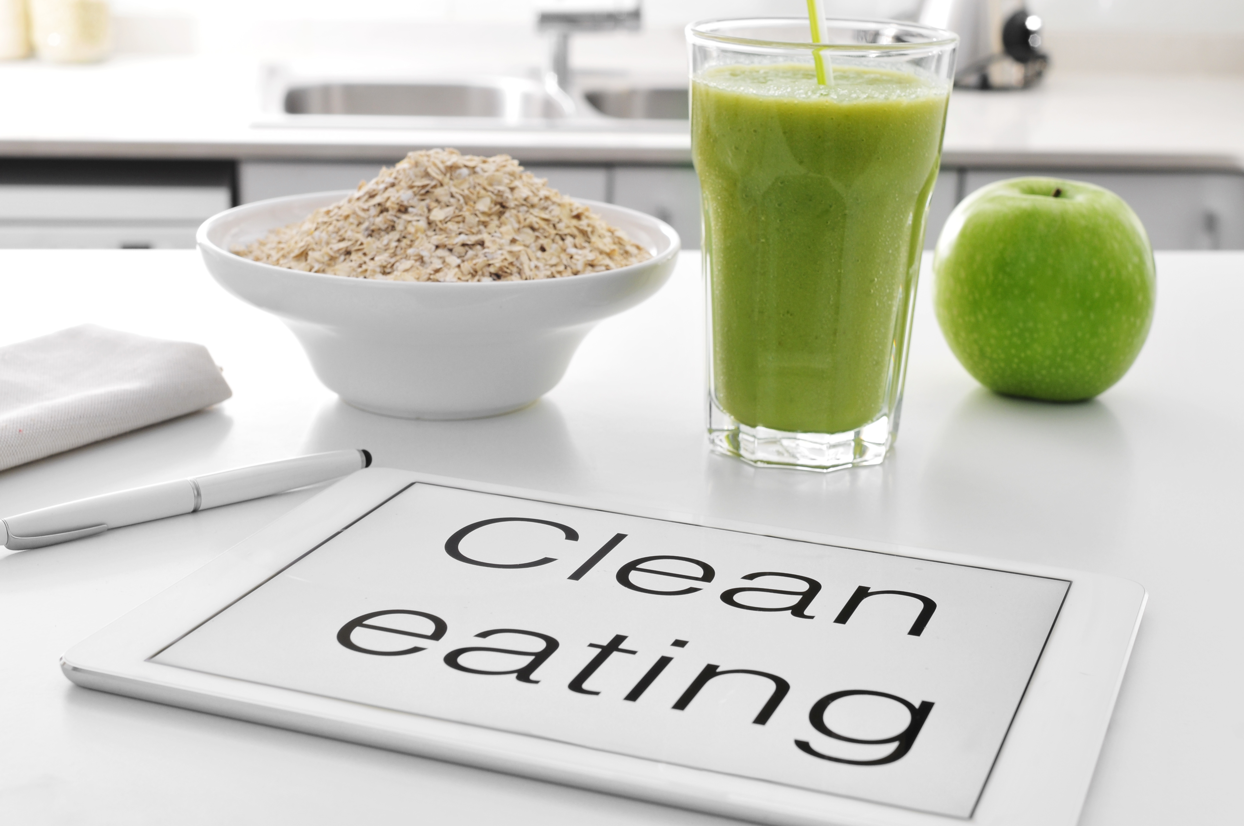 """While there's no official definition for """"clean"""" in the context of clean eating, it typically means food that's whole or minimally processed, organic, natural, local and fresh."""
