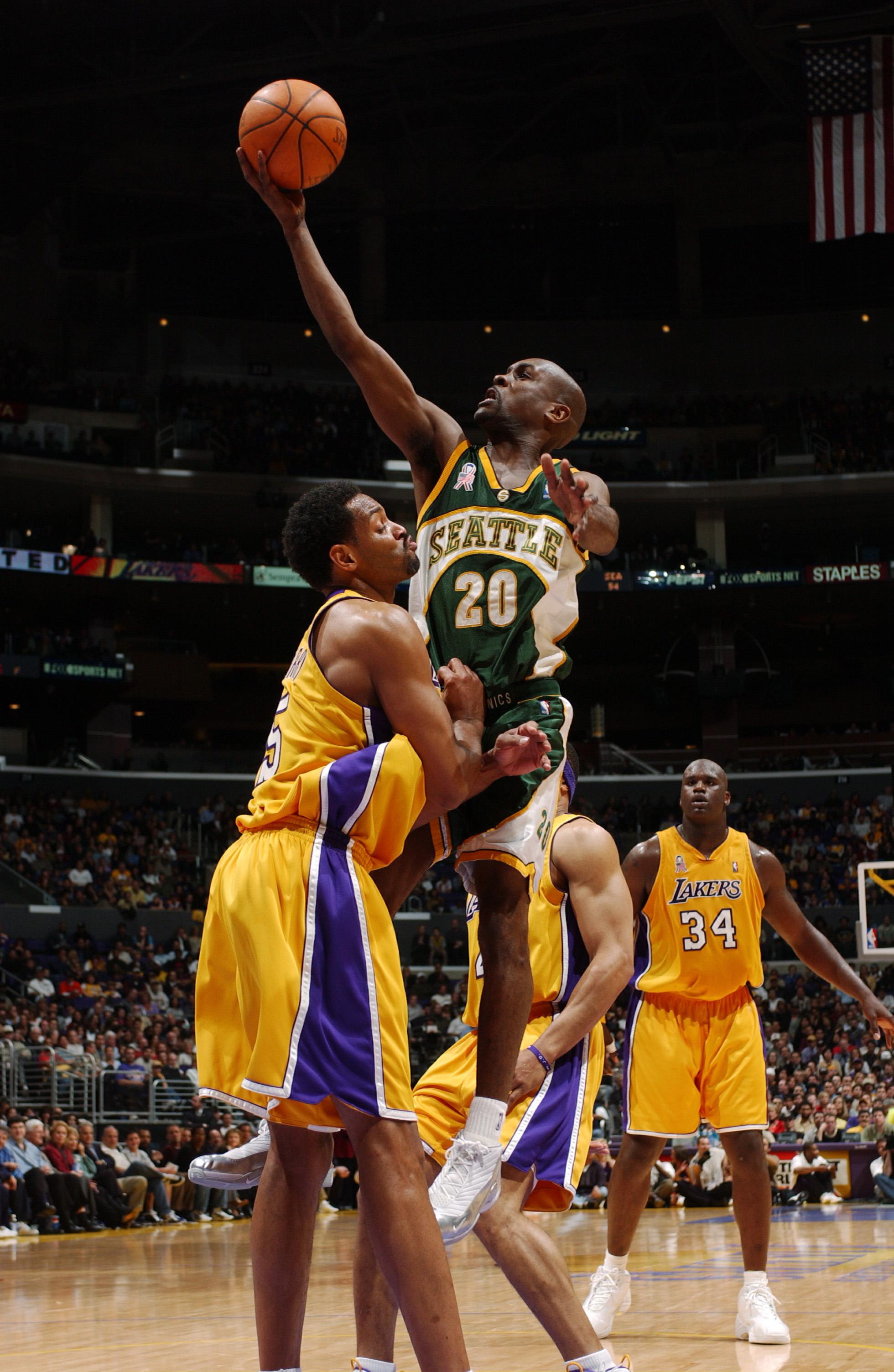 Sonics v Lakers X Payton