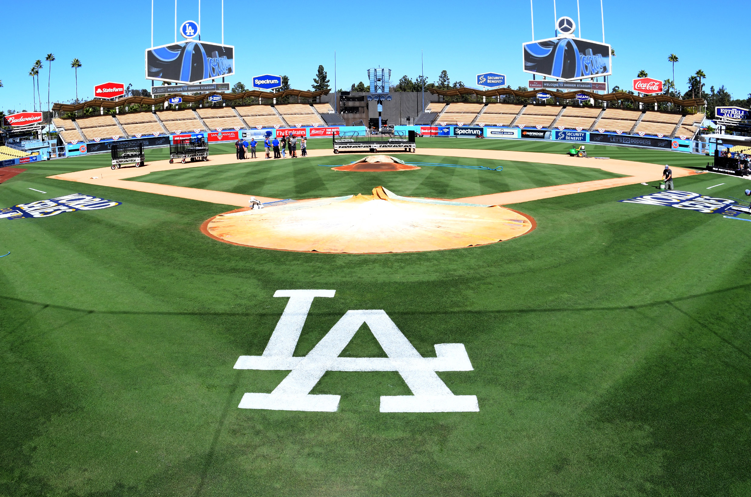 MLB: World Series-Los Angeles Dodgers workout