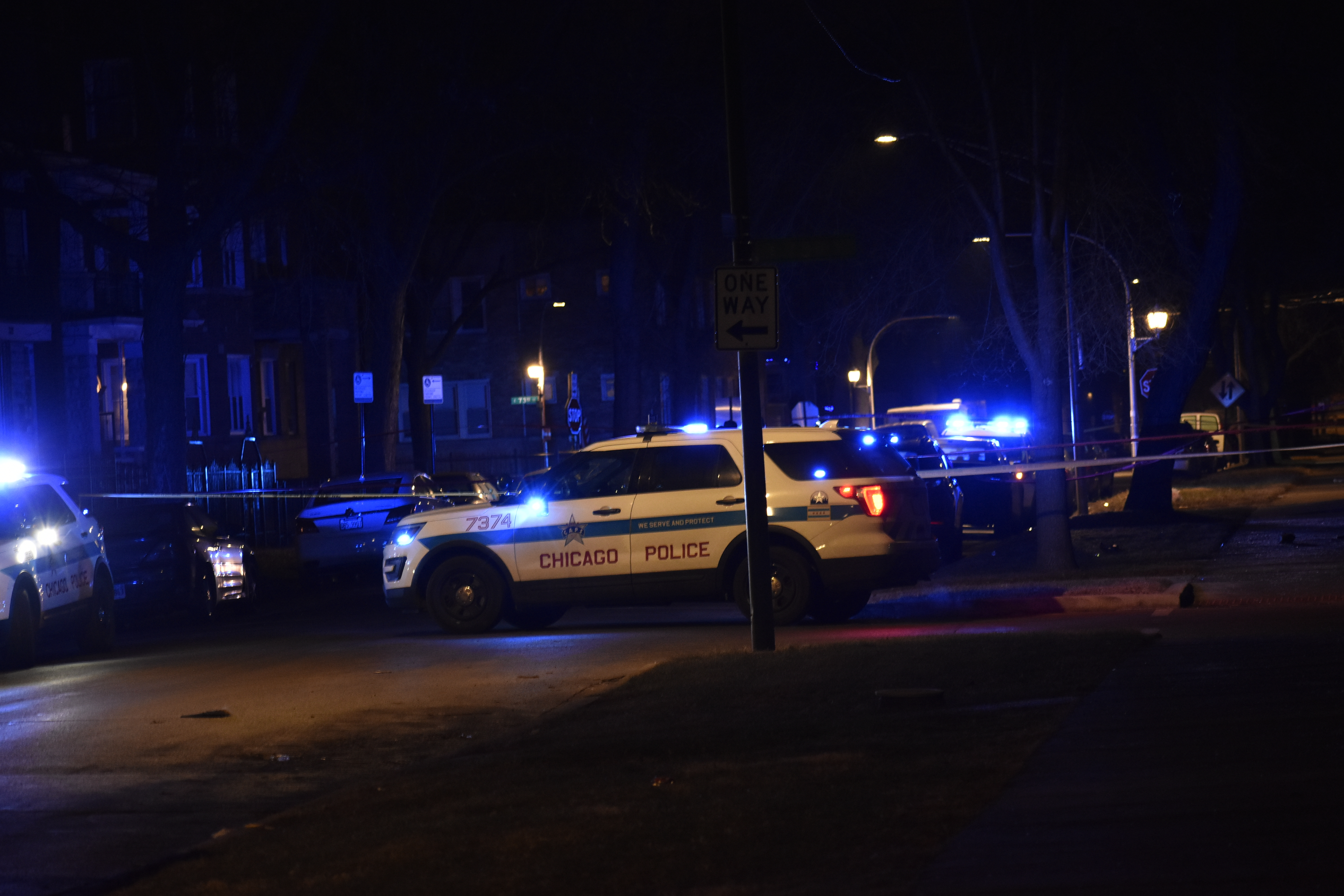 Police investigate after a man was fatally shot Dec. 21, 2019, in the 7300 block of South Blackstone Avenue.