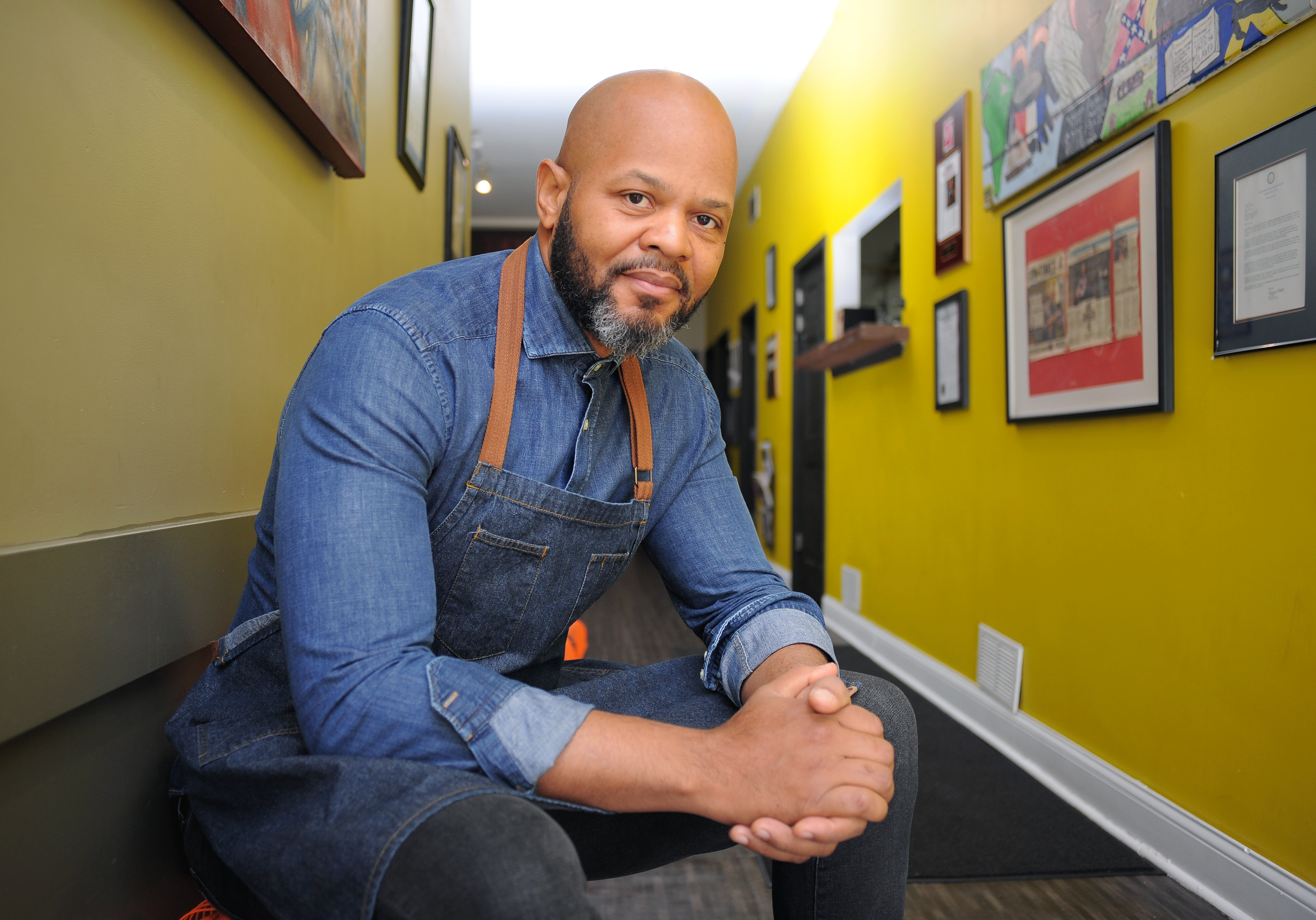 Chef/philanthropist Quentin Love is photographed at his Turkey Chop restaurant, located at Chicago's Humboldt Park neighborhood.