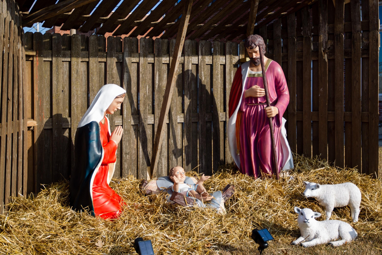 A nativity scene in Centerville, Iowa.