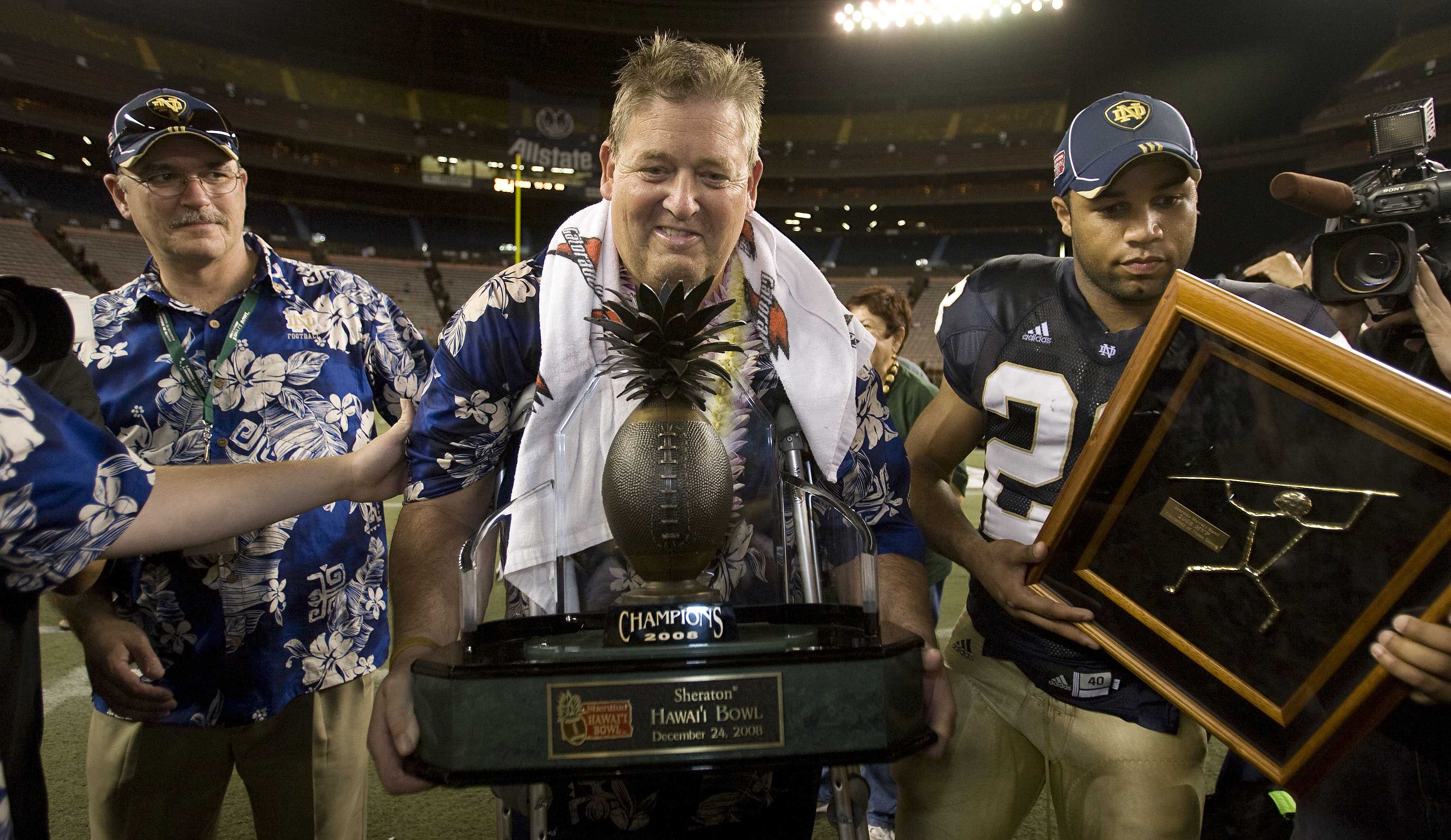 Football - NCAA - Sheraton Hawaii Bowl - Hawaii vs. Notre Dame