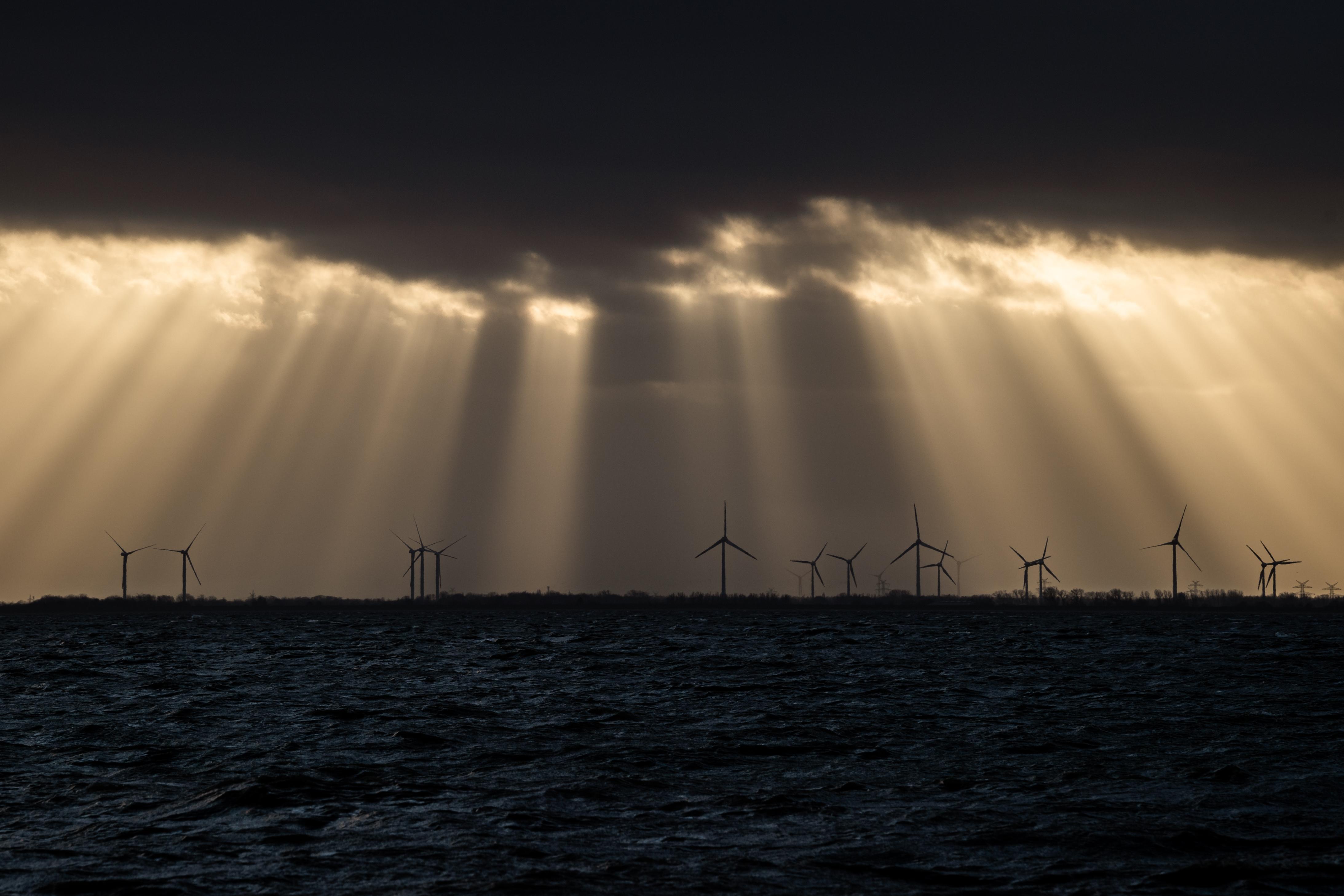 Weather on the North Sea coast