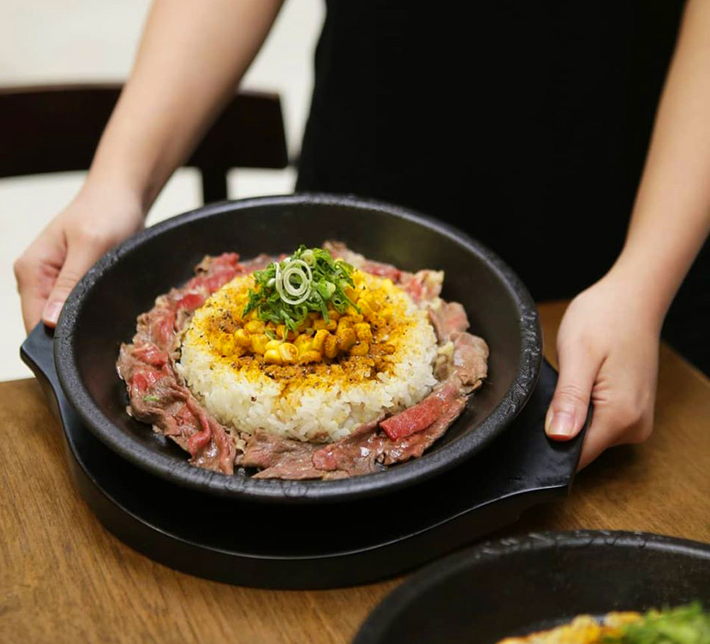 """A dish from """"Japanese DIY Teppan"""" concept Pepper Lunch, now open in Chinatown."""