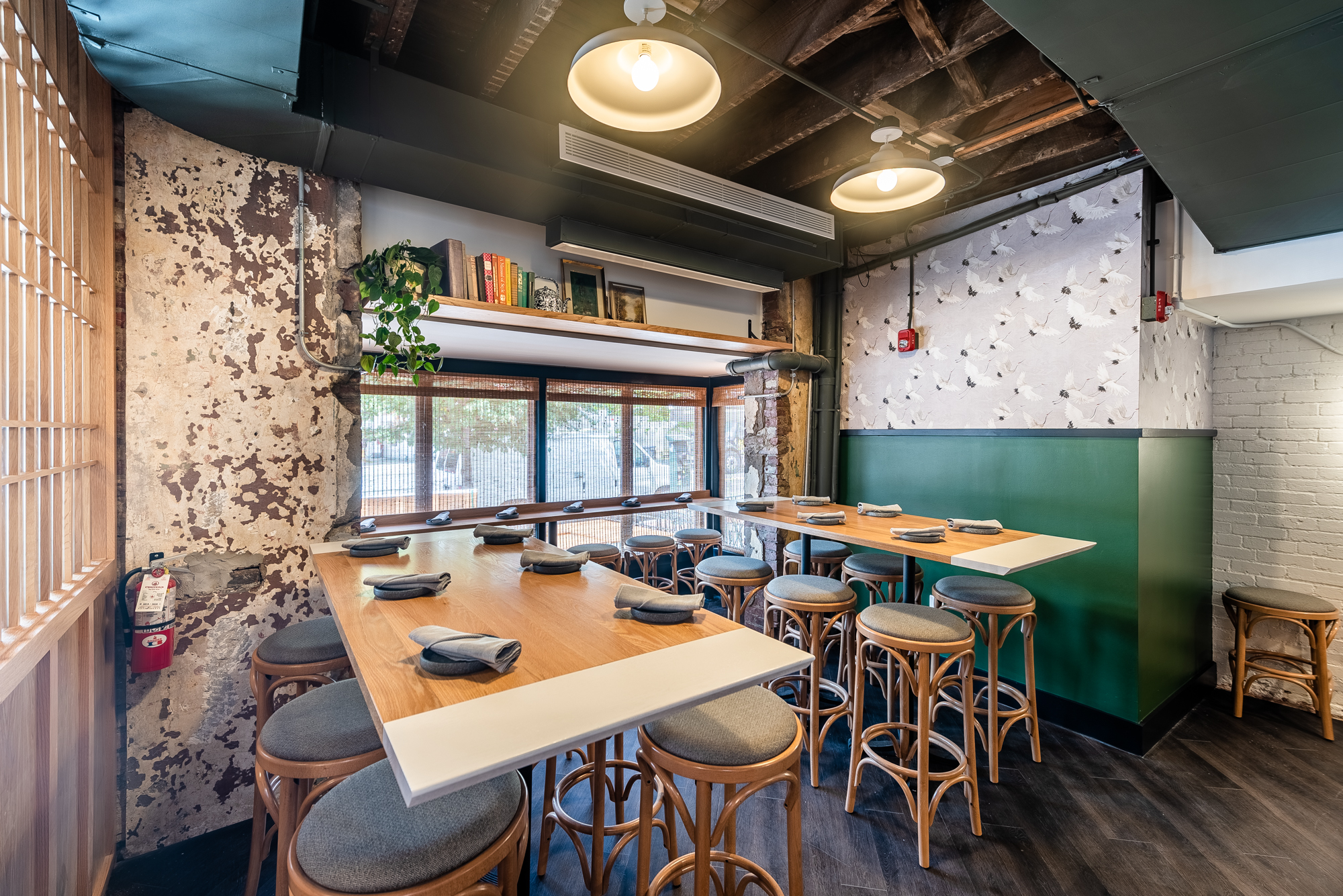 Casual seating for the pub-friendly menu at the first floor of Anju.