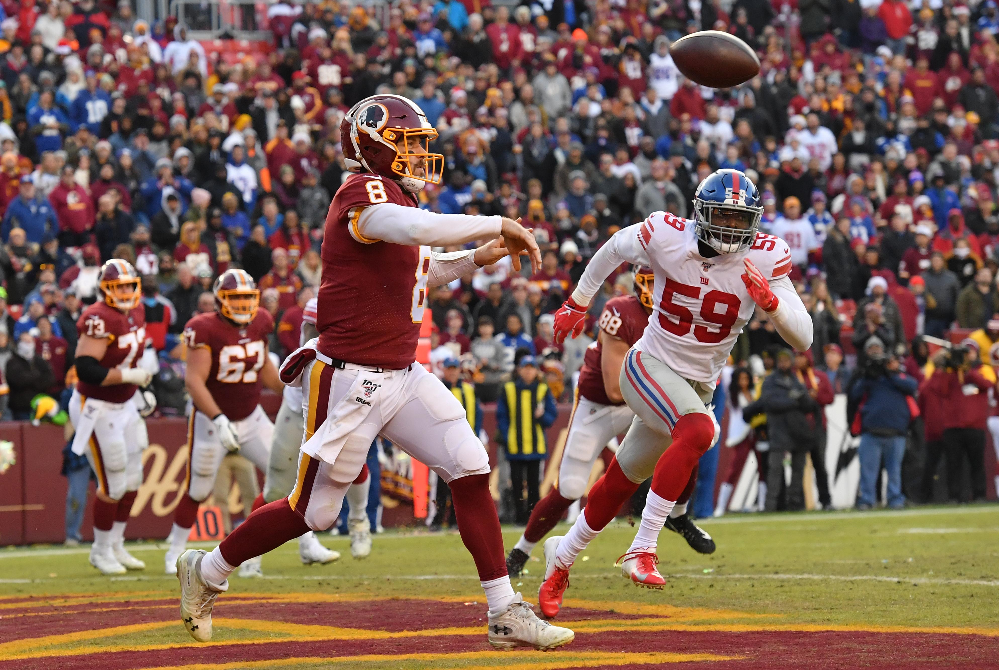 NFL - New York Giants at Washington Redskins