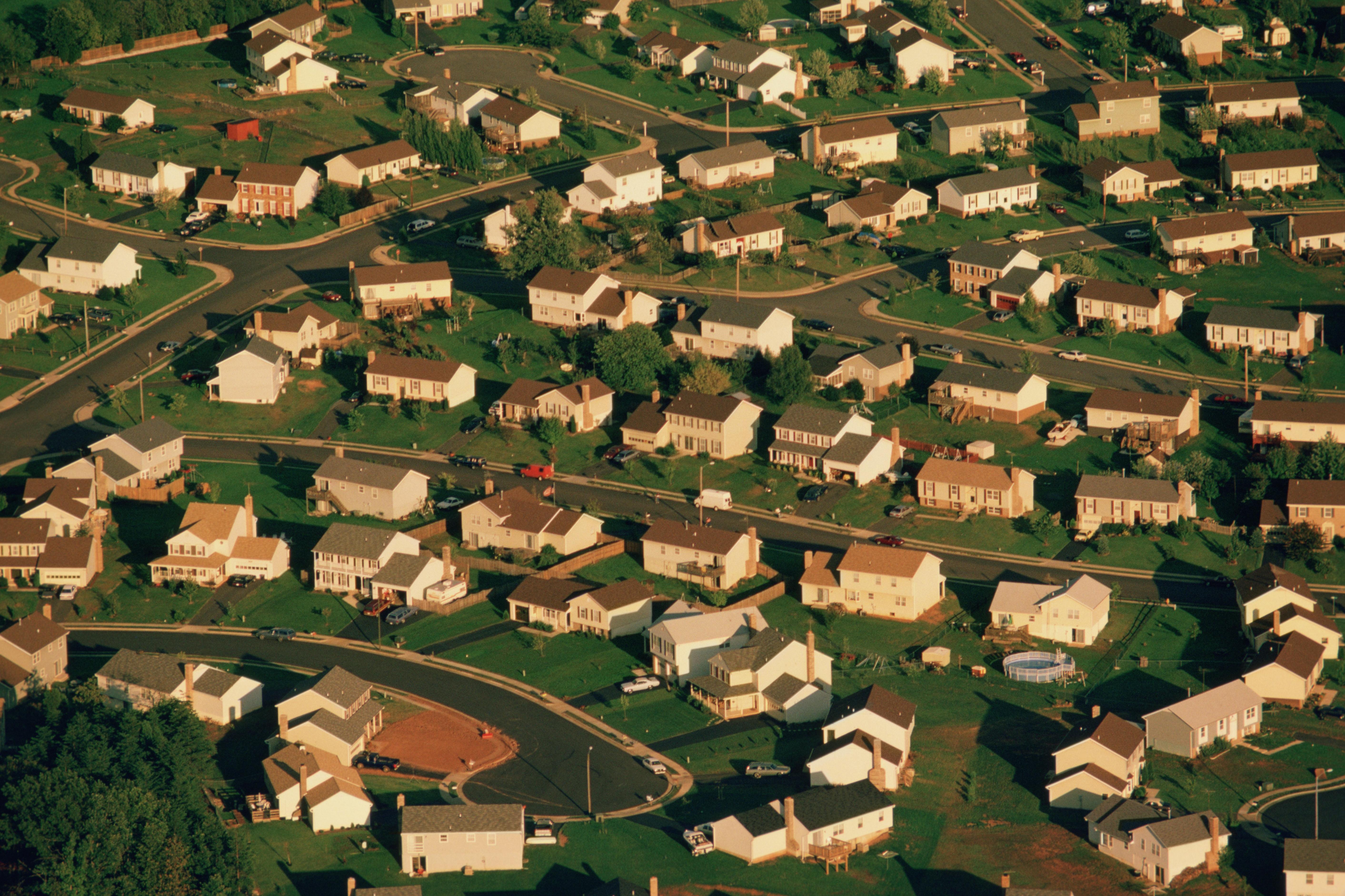 Suburban housing in Manassas, Virginia.