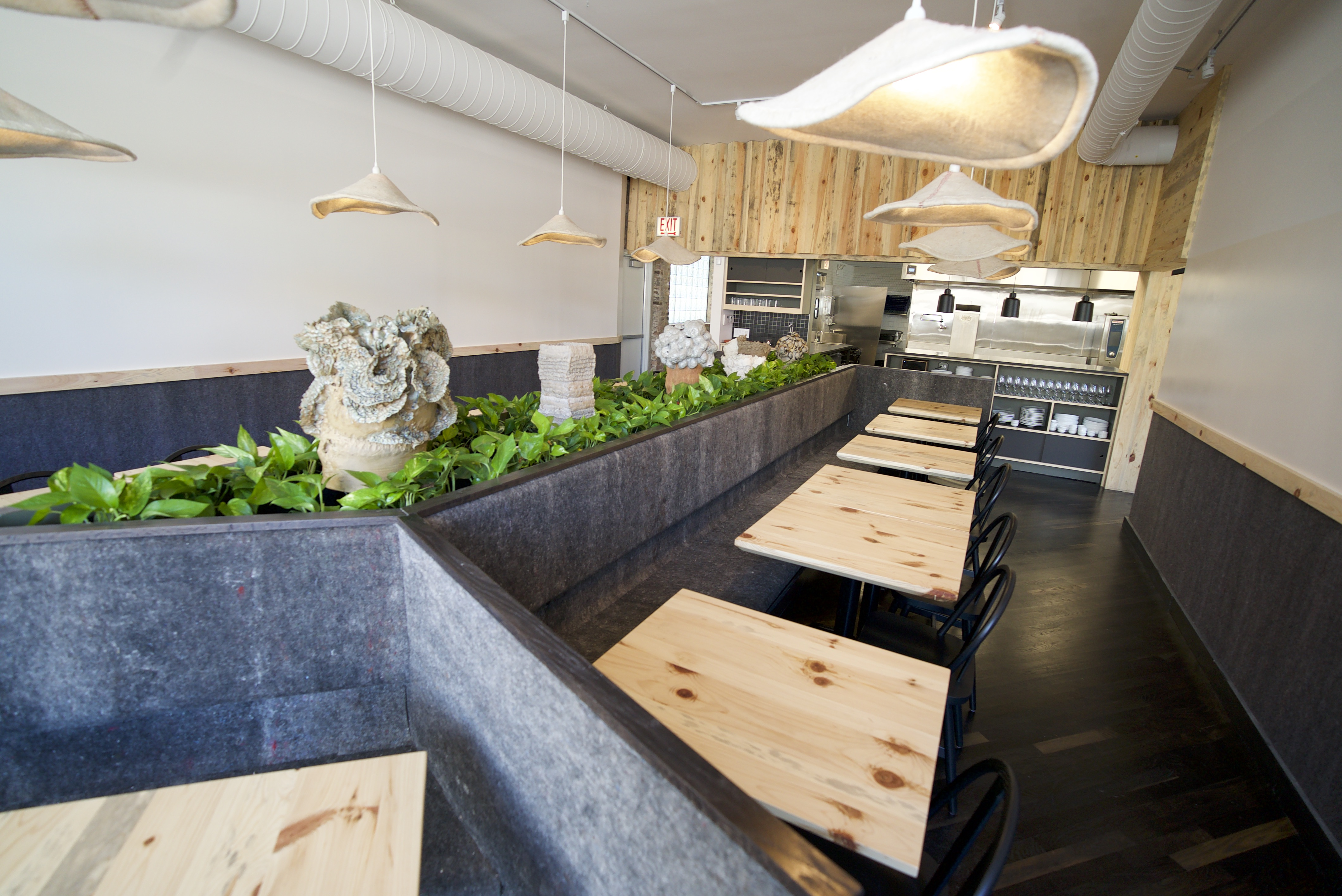 Beverly Kim said this restaurant is lighter in contrast to Parachute's darker space.