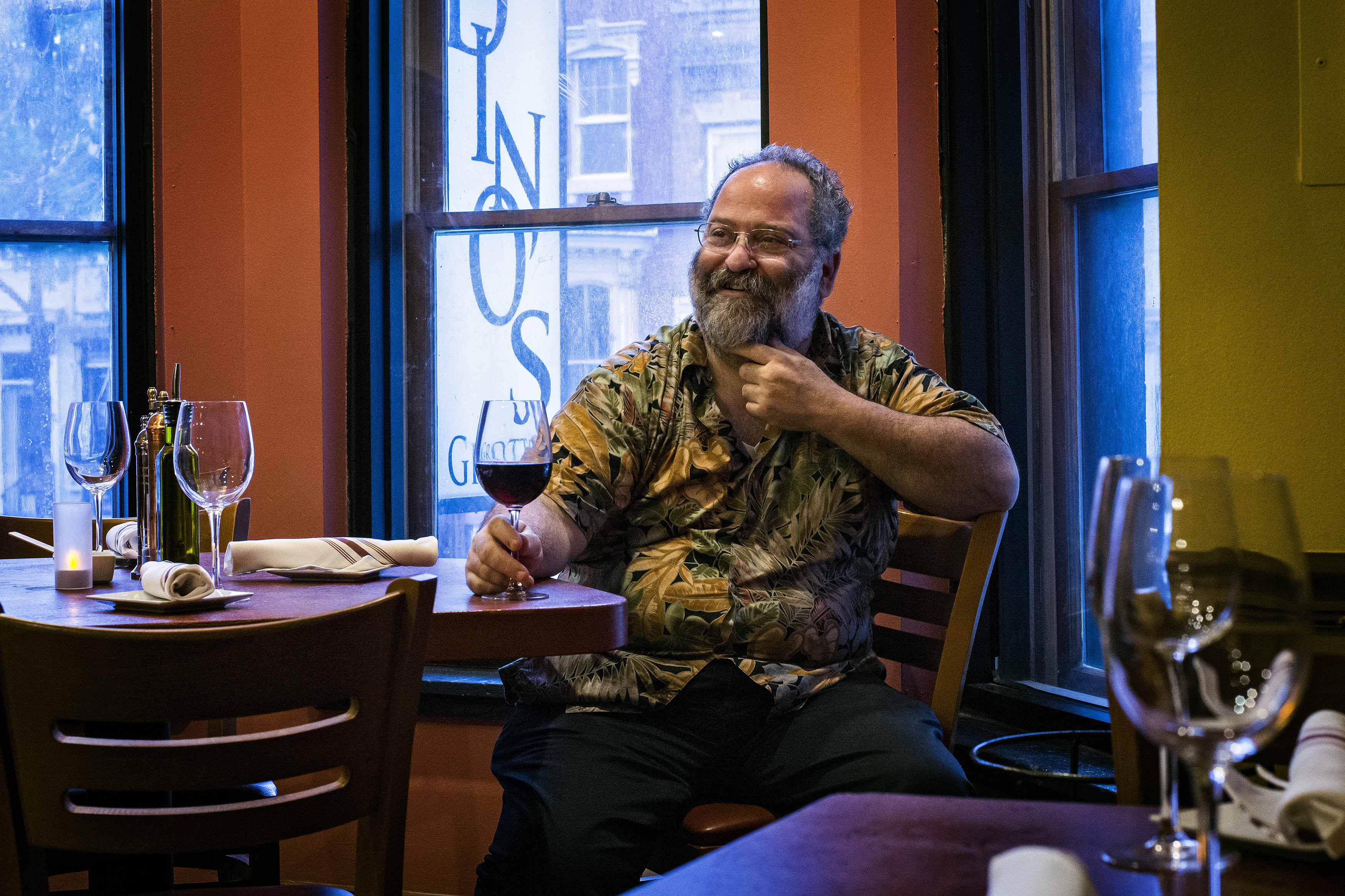 Owner Dean Gold sits inside Dino's Grotto