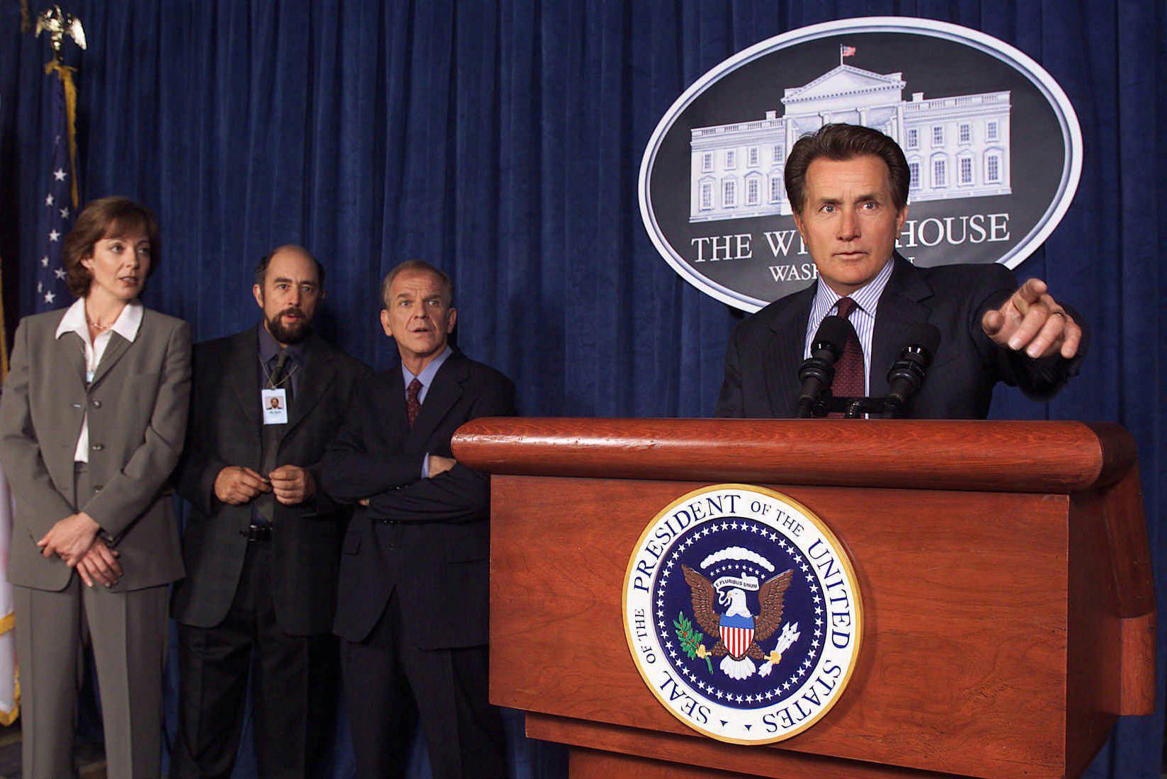 Martin Sheen playing President Josiah Bartlett in 'The West Wing.'
