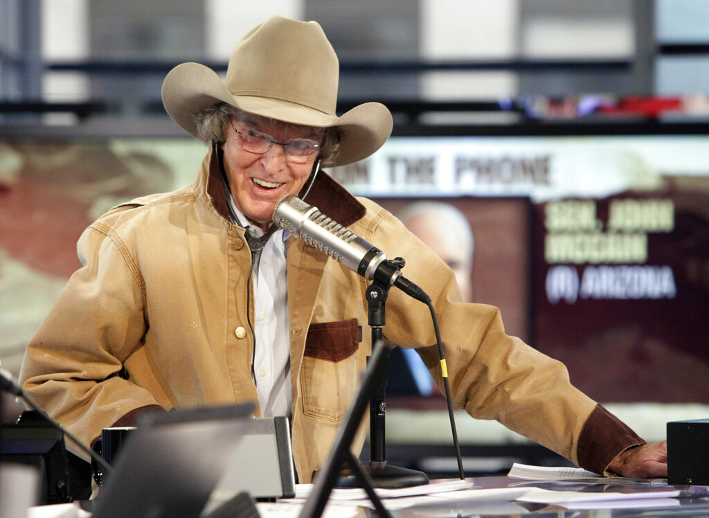Don Imus interviews Sen. John McCain, R-Ariz., by telephone during his debut show on the Fox Business Network in New York.