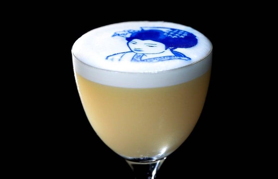"""White Geisha"" cocktail at Gordon Ramsay's Lucky Cat"