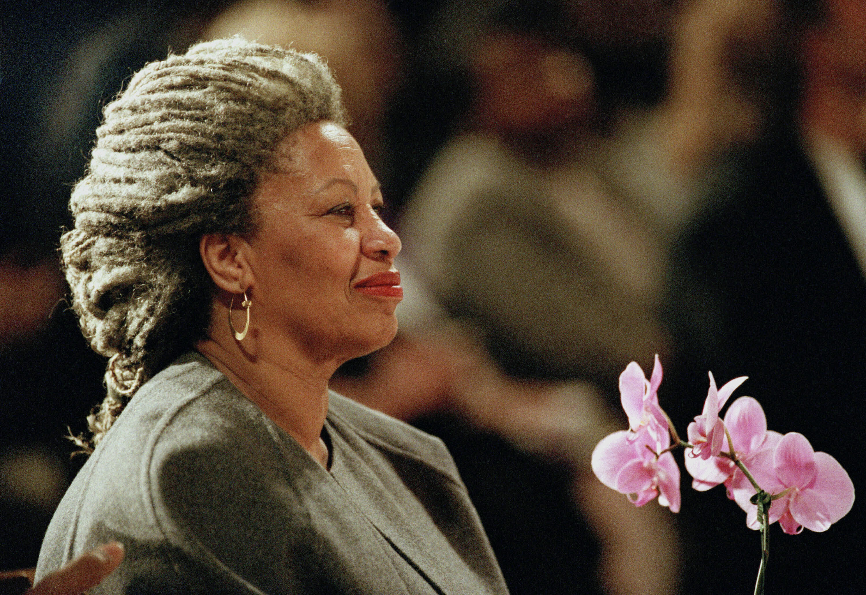 Toni Morrison is shown in 1994 at the Cathedral of St. John the Divine in New York.