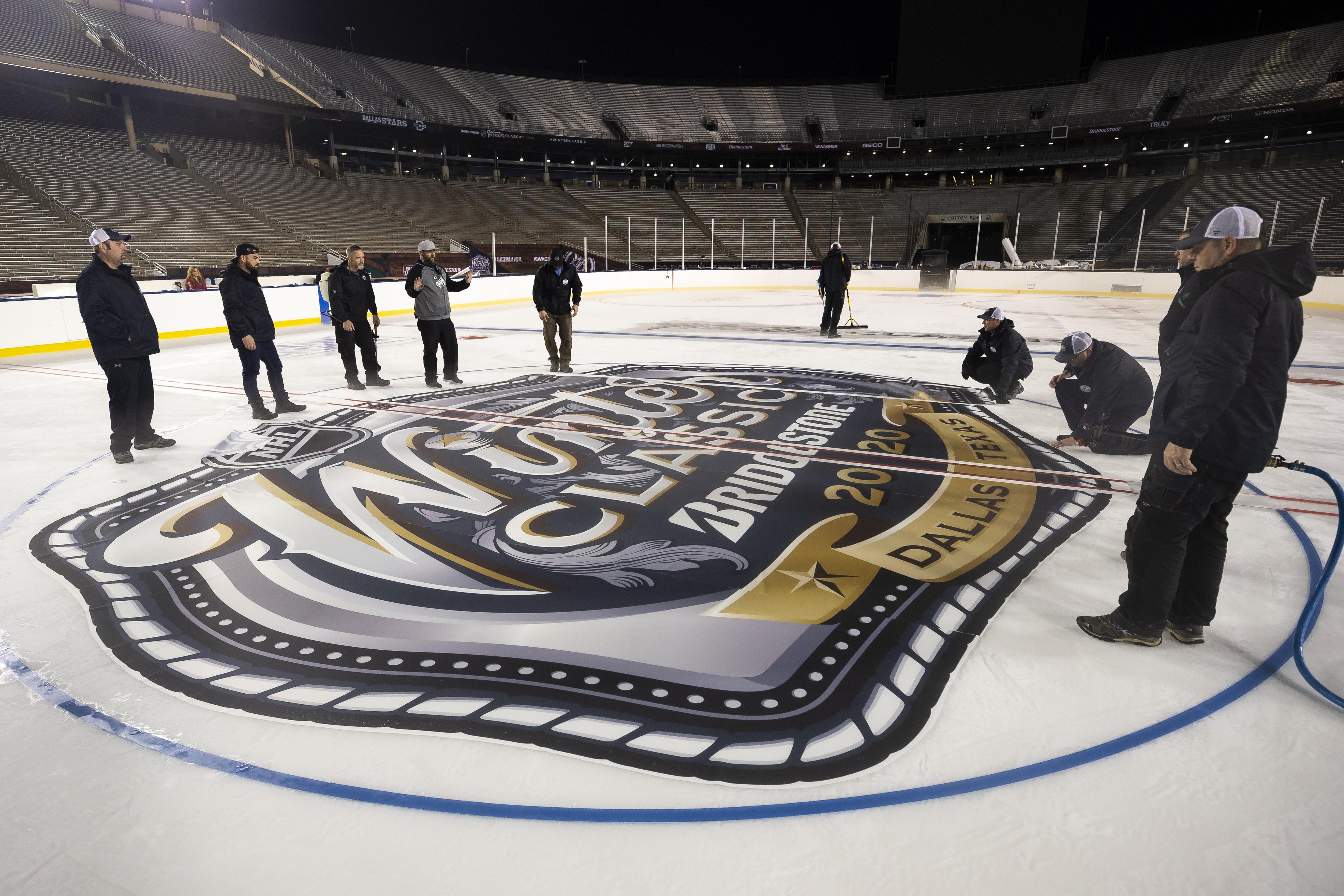2020 Bridgestone NHL Winter Classic - Rink Build Out