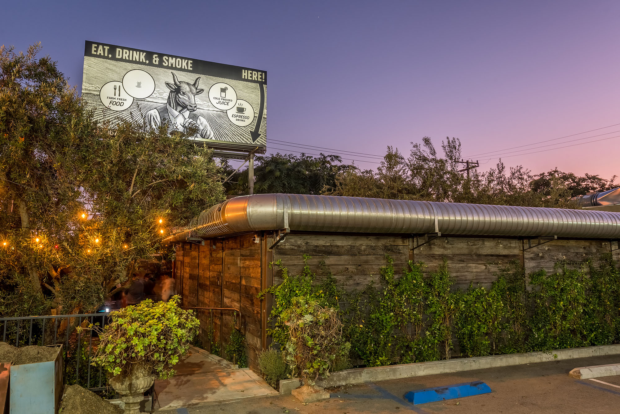 Entry to Original Cannabis Cafe in West Hollywood
