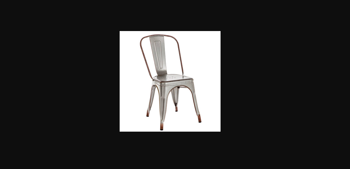 A gray metal chair that's prevalent in restaurants that is stupidly uncomfortable for all posteriors