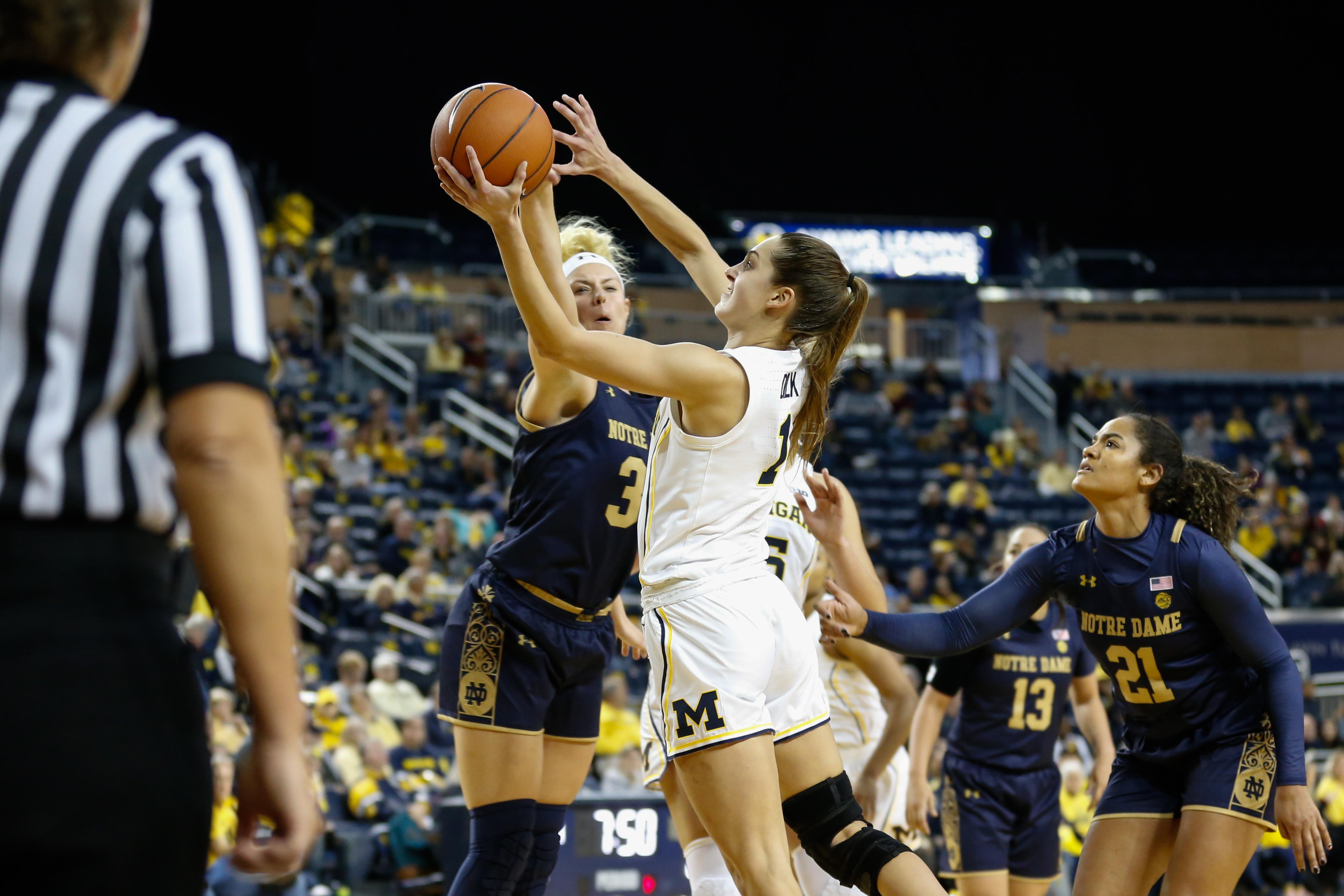 COLLEGE BASKETBALL: NOV 23 Women's Notre Dame at Michigan