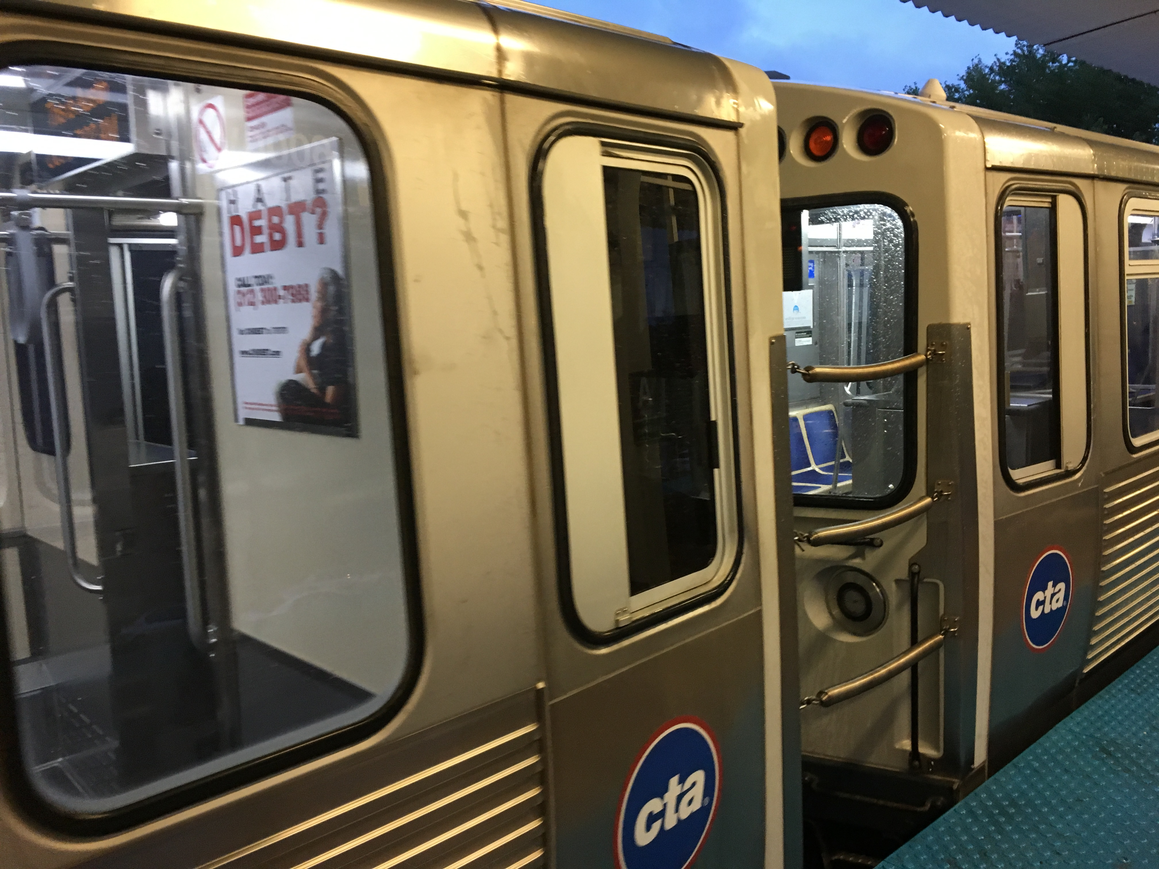 Yellow Line trains in Skokie were suspended after a person was hit by a train.