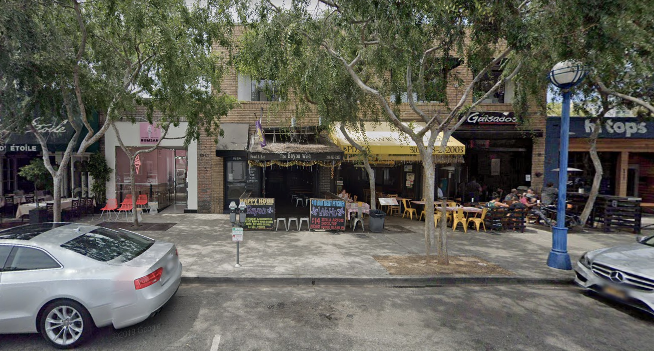 A colorful New Orleans-themed dive bar shown from Google Street View.