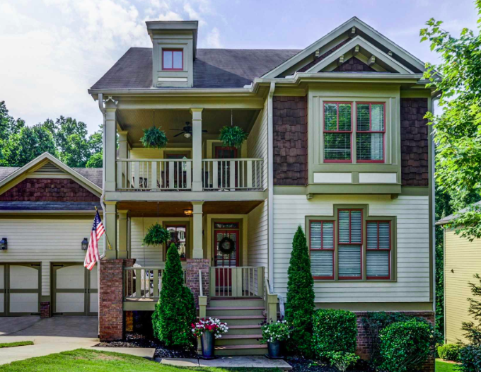 A photo of a four-bedroom house in East Atlanta.
