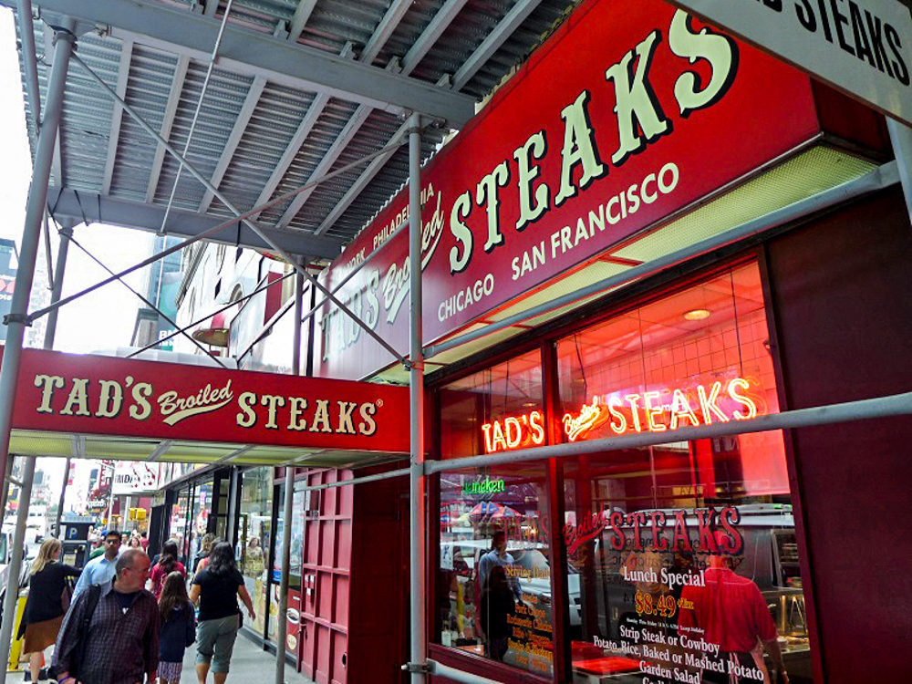 Times Square Budget Steakhouse Tad's Closes Sunday After Nearly 60 Years