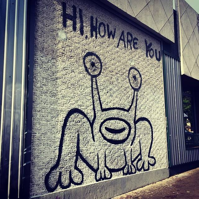 The Hi, How Are You mural