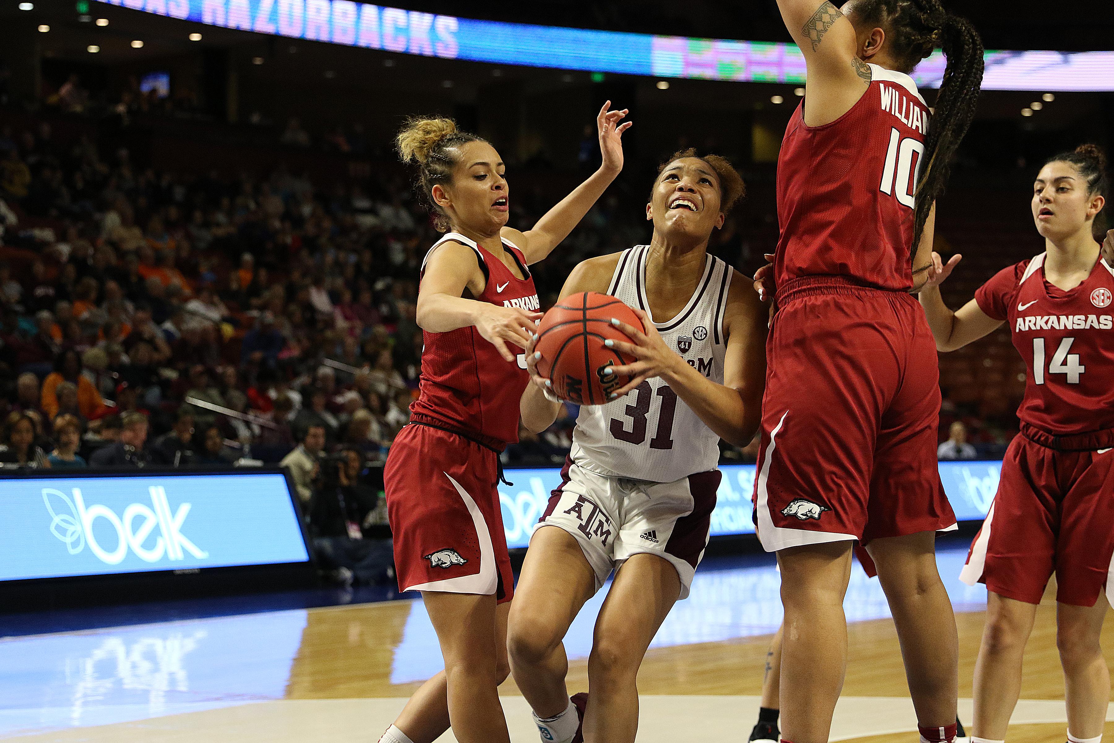COLLEGE BASKETBALL: MAR 09 SEC Conference Women's Tournament - Arkansas vs Texas A&M
