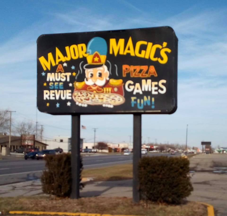 An old Major Magic's sign.