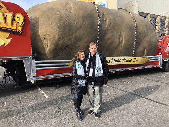 This is a big potato at the Famous Idaho Potato Bowl!
