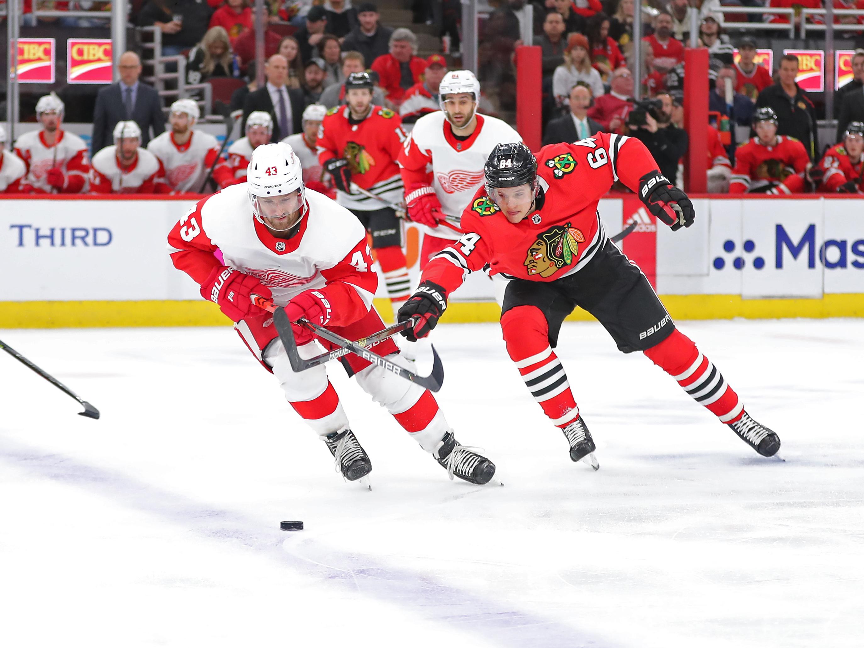 NHL: Detroit Red Wings at Chicago Blackhawks
