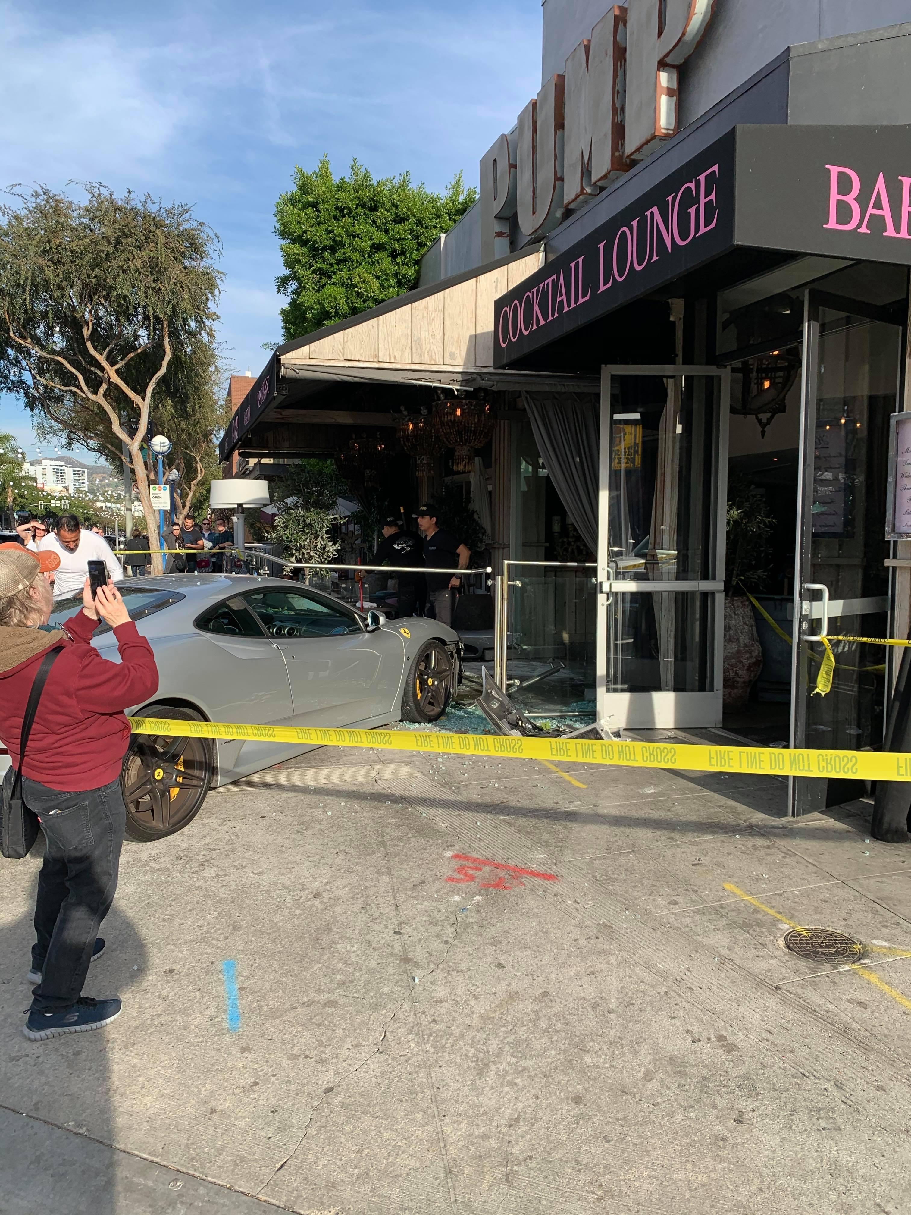 A Ferrari crashed into Lisa Vanderpump's restaurant, Pump in West Hollywood