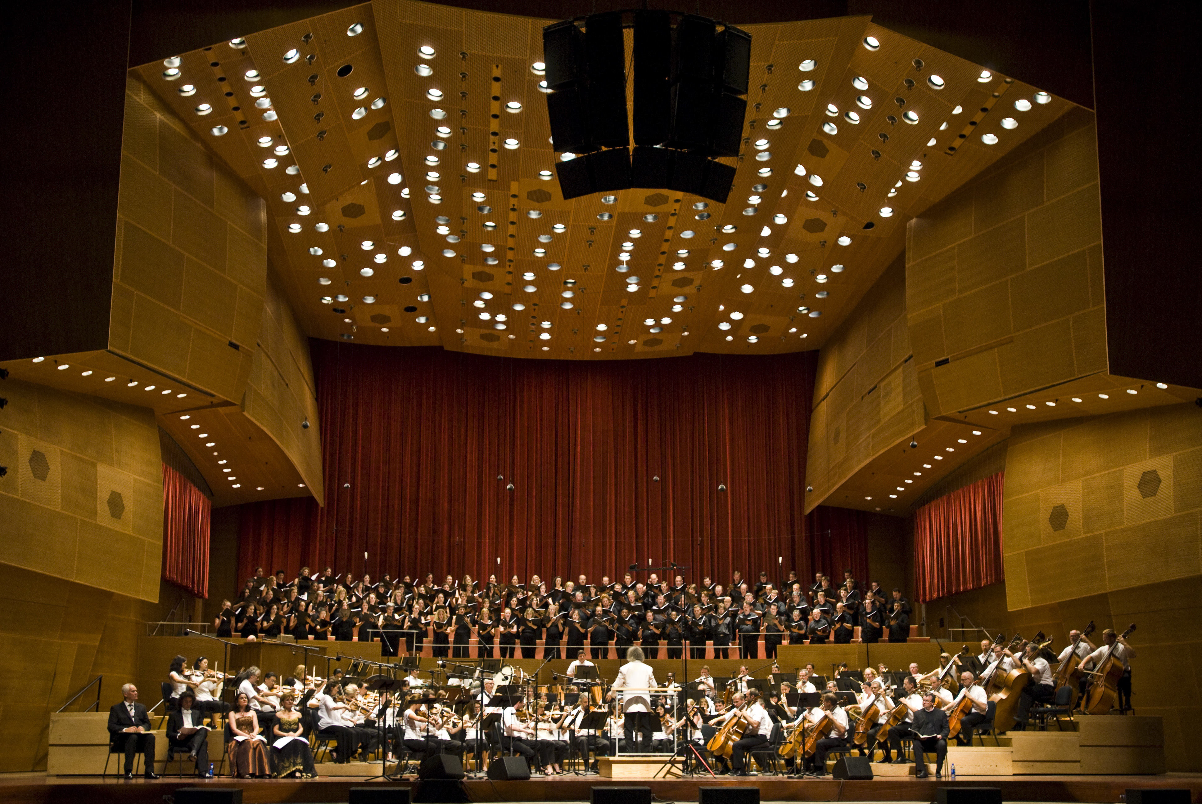 The Grant Park Orchestra and Chorus perform in concert at the Pritzker Pavilion in Millennium Park.