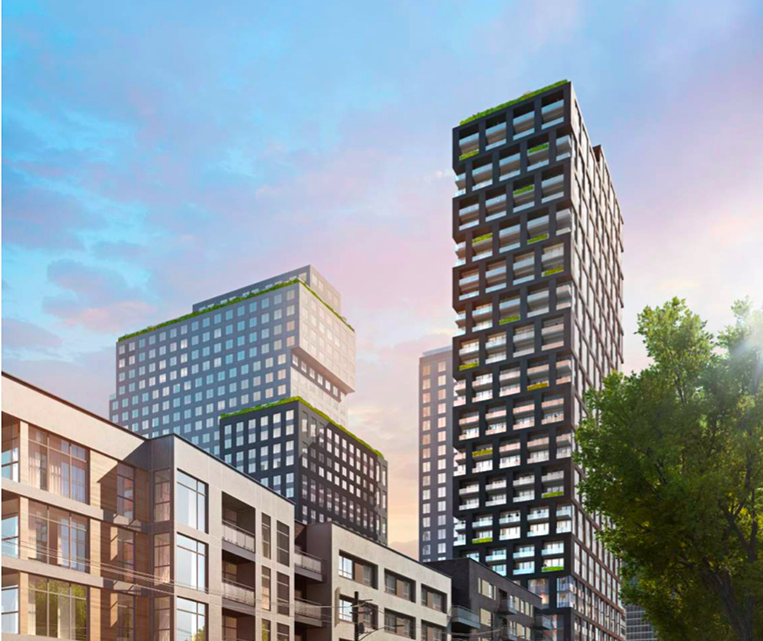 Student and market-rate apartment towers envisioned for a 1018 West Peachtree Street lot.