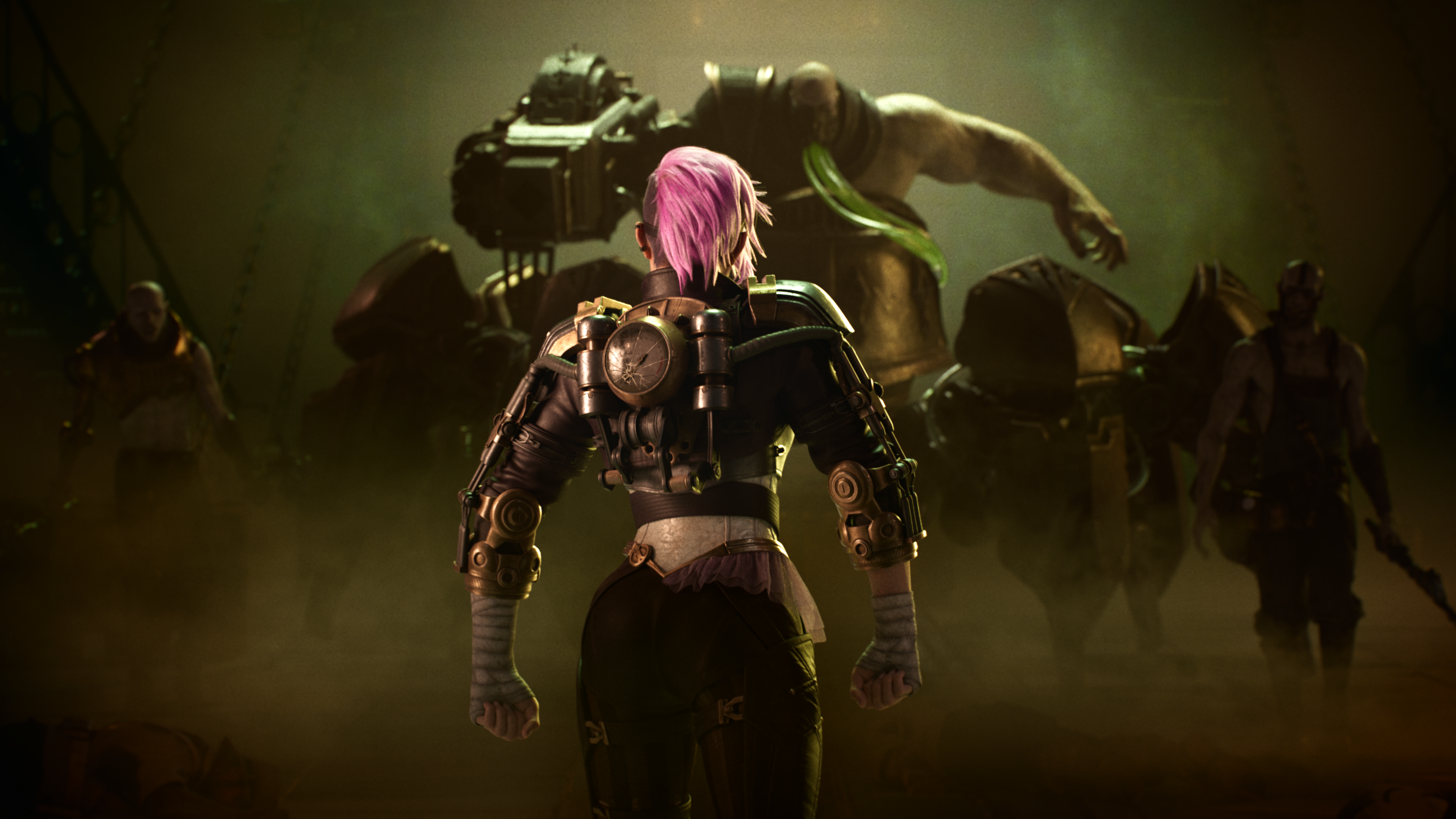 Vi faces down Urgot in the 2020 League of Legends ranked video set to Warriors