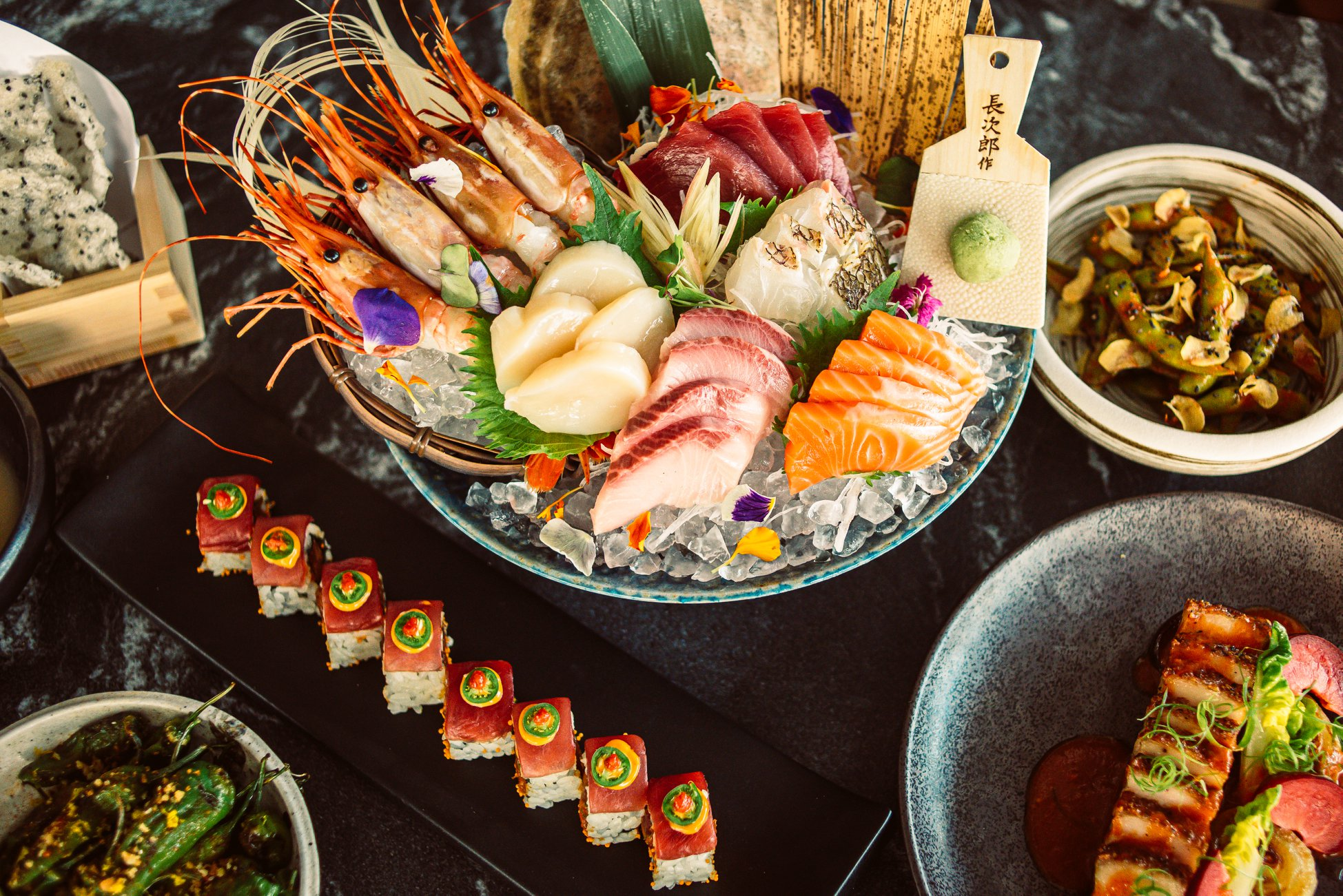 Sashimi and sushi from TenTen