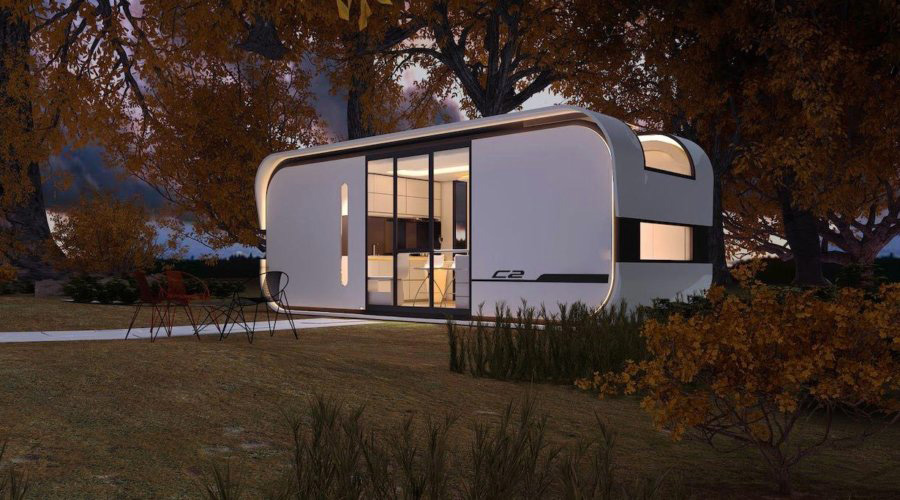 Rendering of prefab tiny home