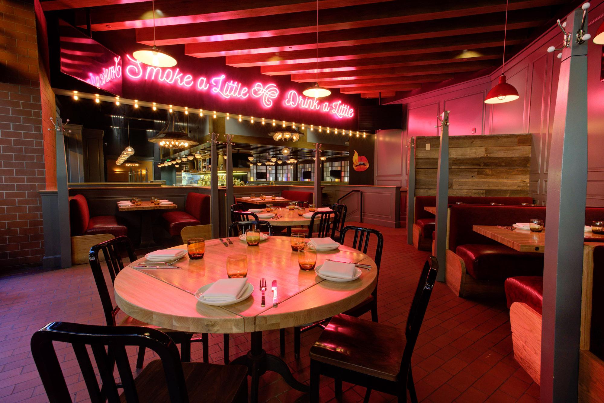 The dining room at International Smoke