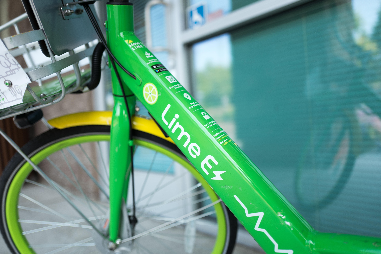 A Lime e-bike.